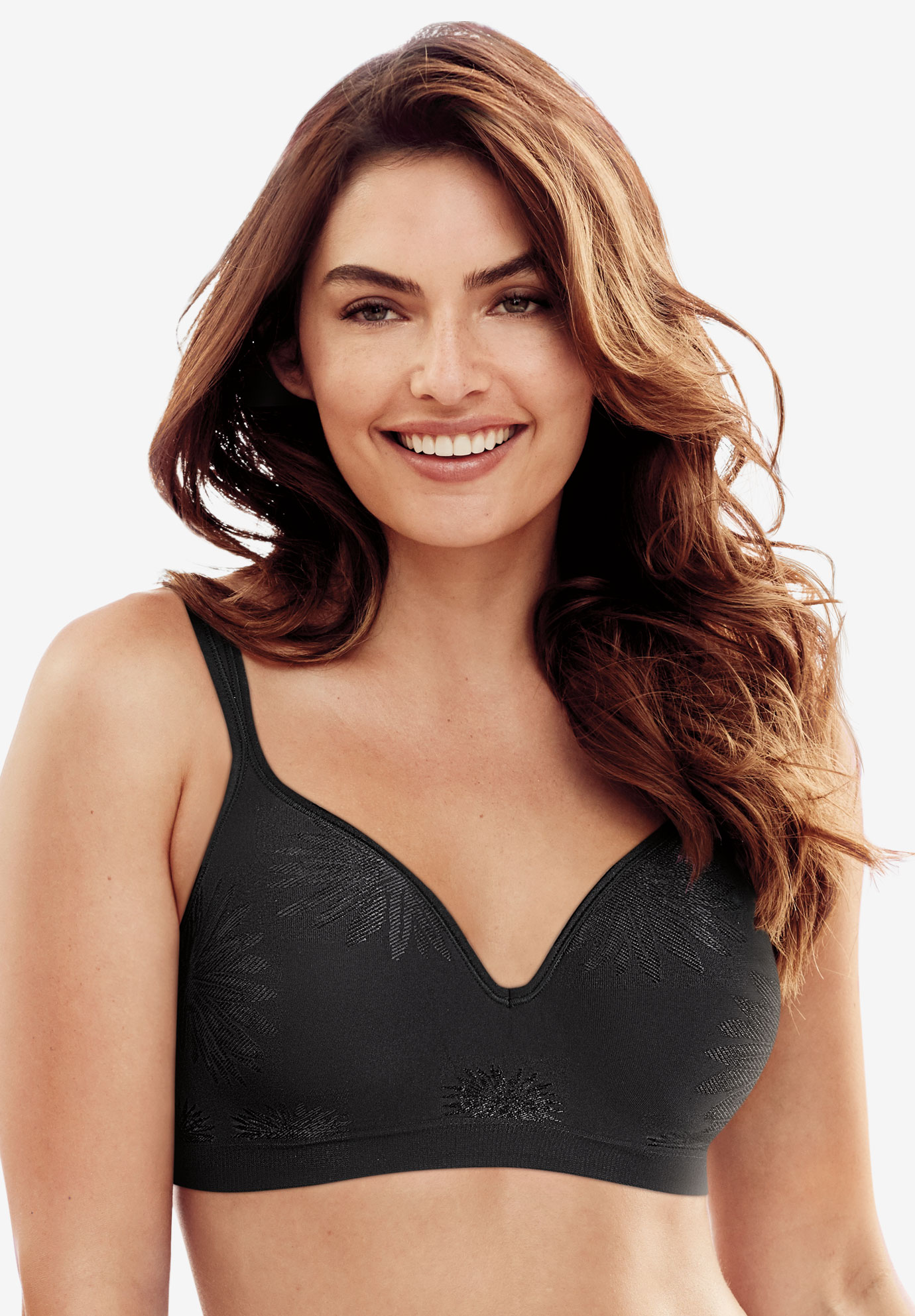 Bra, stretch foam concealing wireless by Bali®, BLACK, hi-res