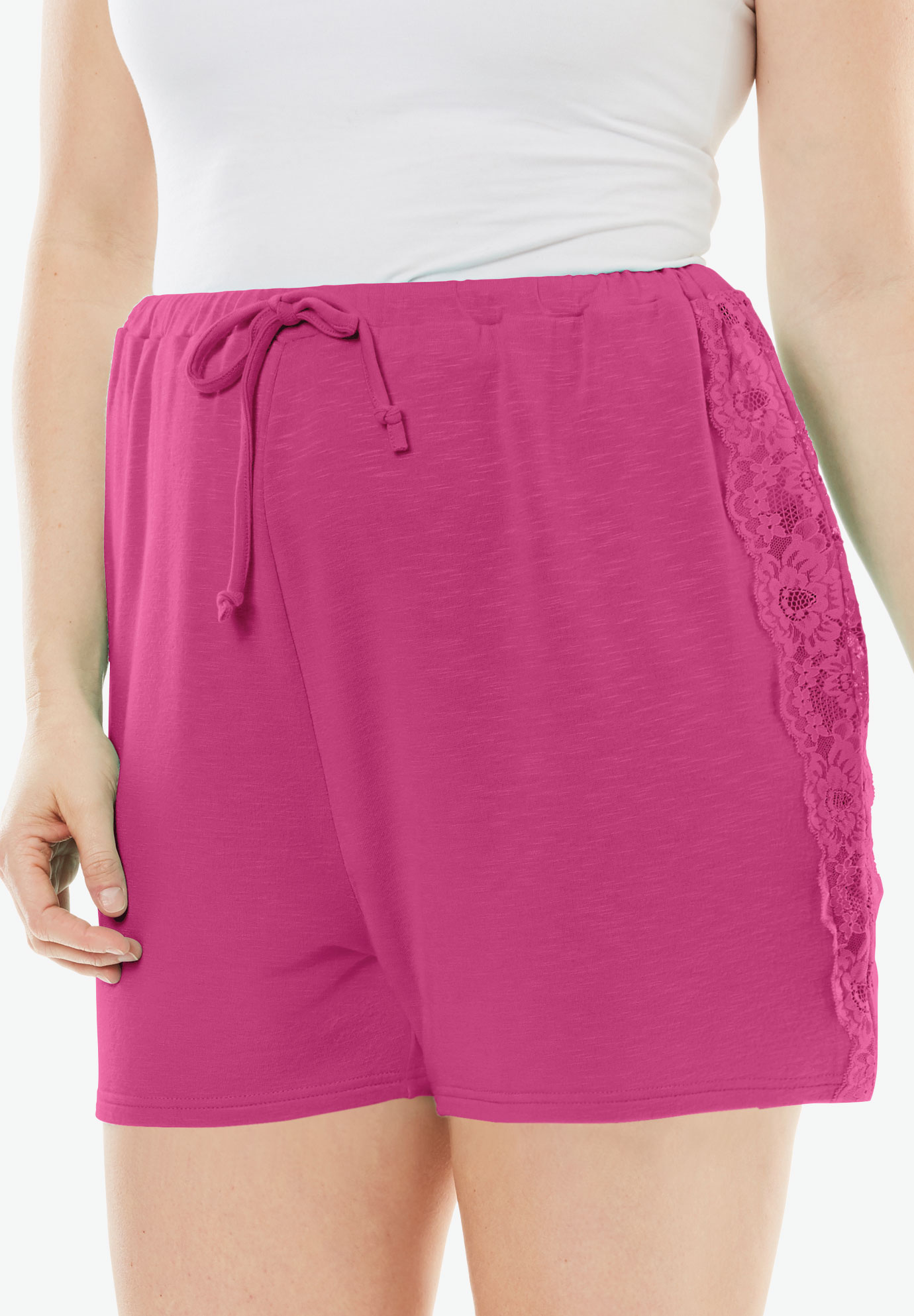 Lunar Lace Shorts, BRIGHT BERRY, hi-res