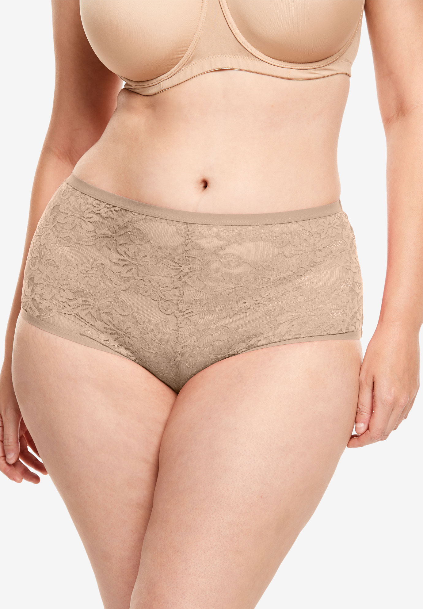 2-Pack Lace Hipster Panty by Comfort Choice®,