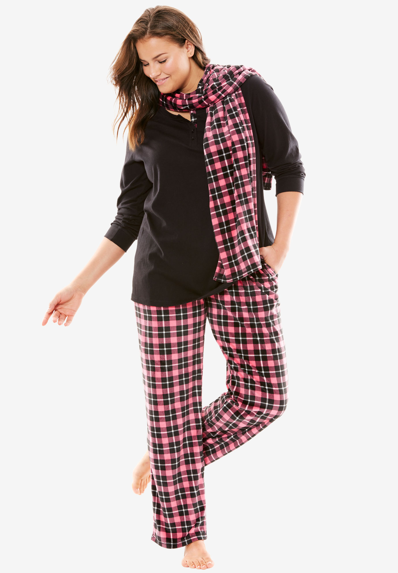 3-Piece Pajama Set by Dreams & Co., MULTI PLAID, hi-res