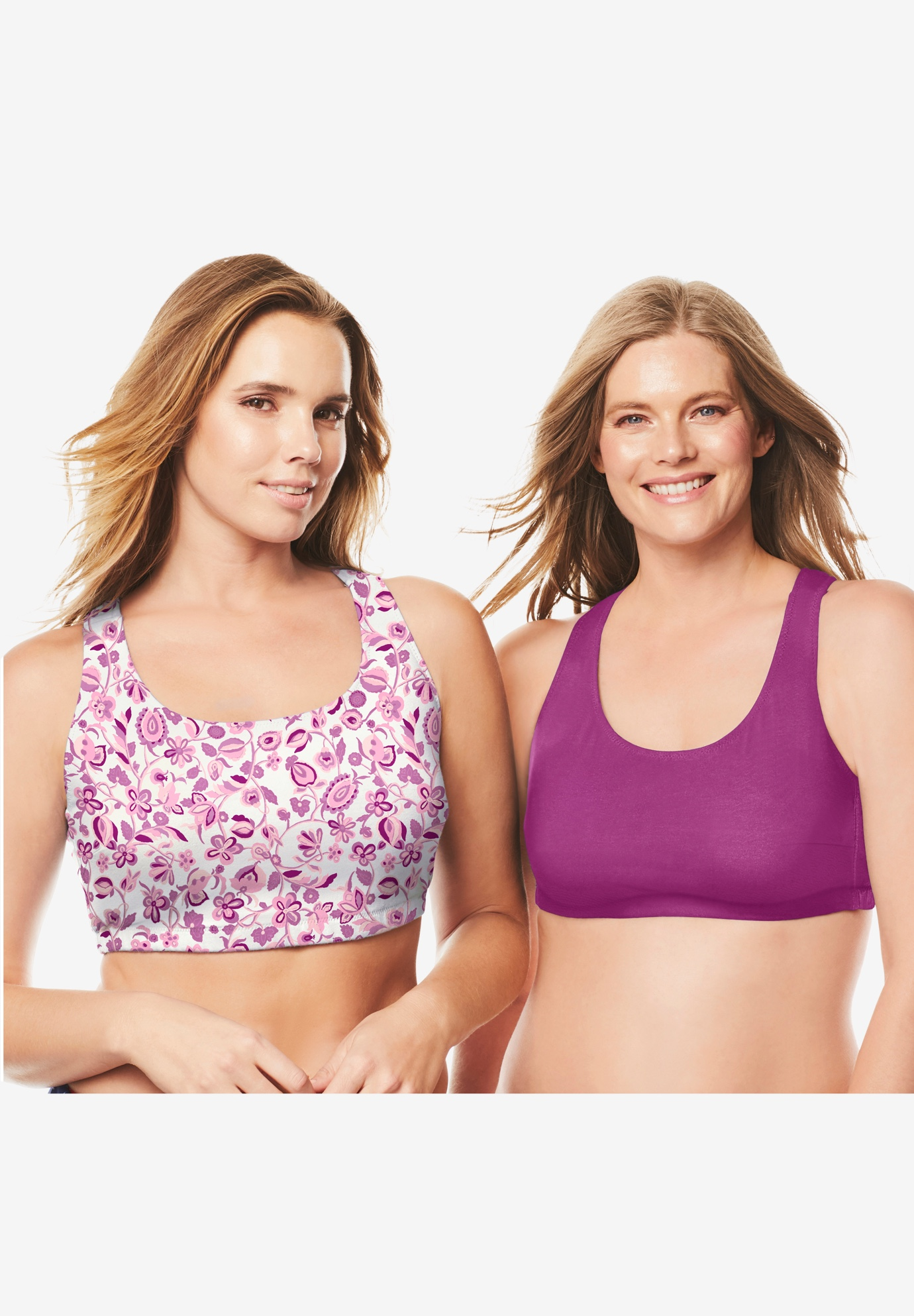 Sports Bra 2 Pack by Comfort Choice®,