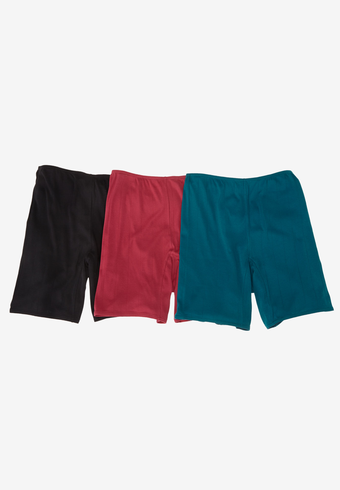 3-Pack Cotton Bloomers by Comfort Choice®, MIDTONE ASSORTED, hi-res