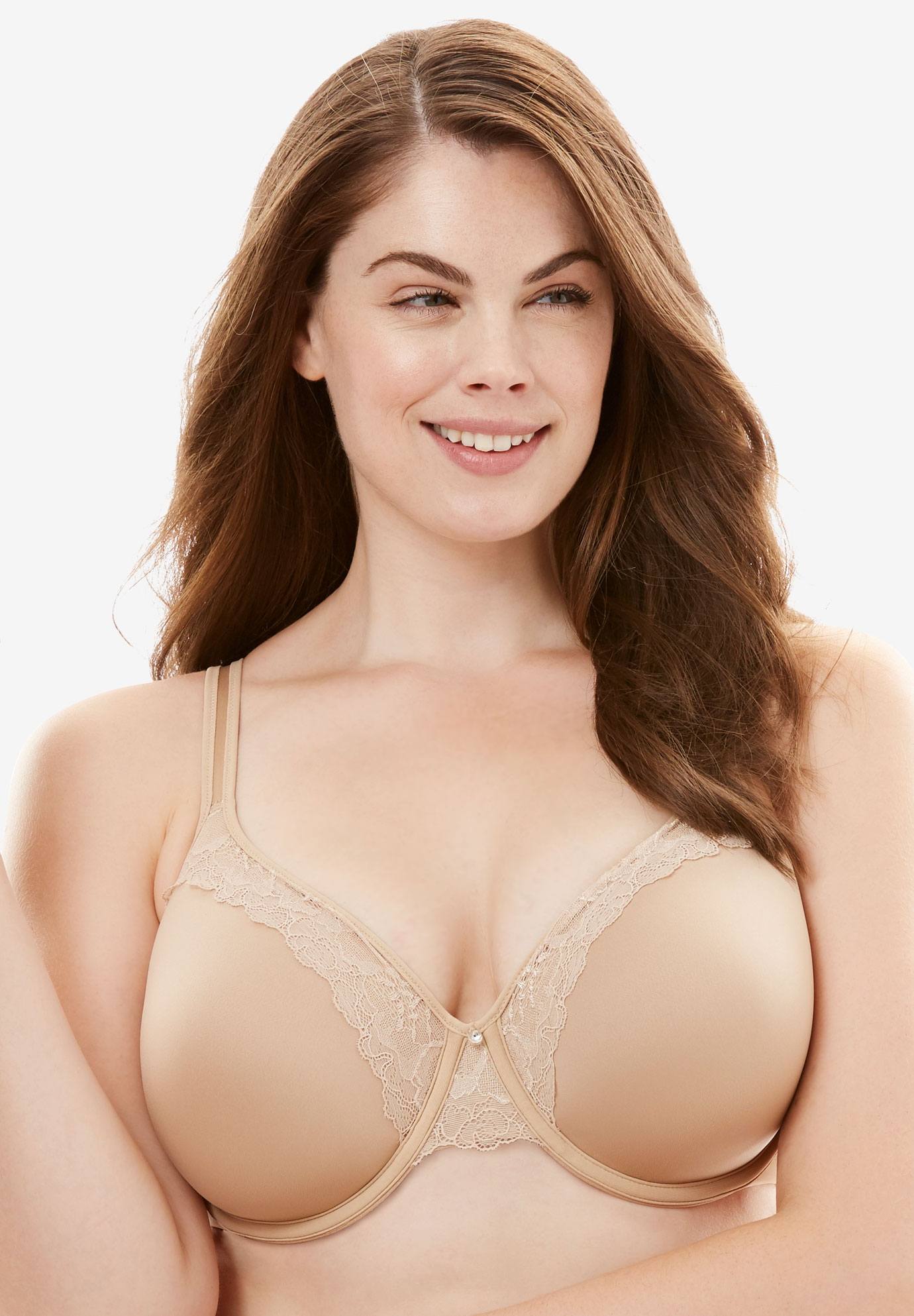 Bali® One Smooth U® Lace Lift Underwire Bra, NUDE, hi-res