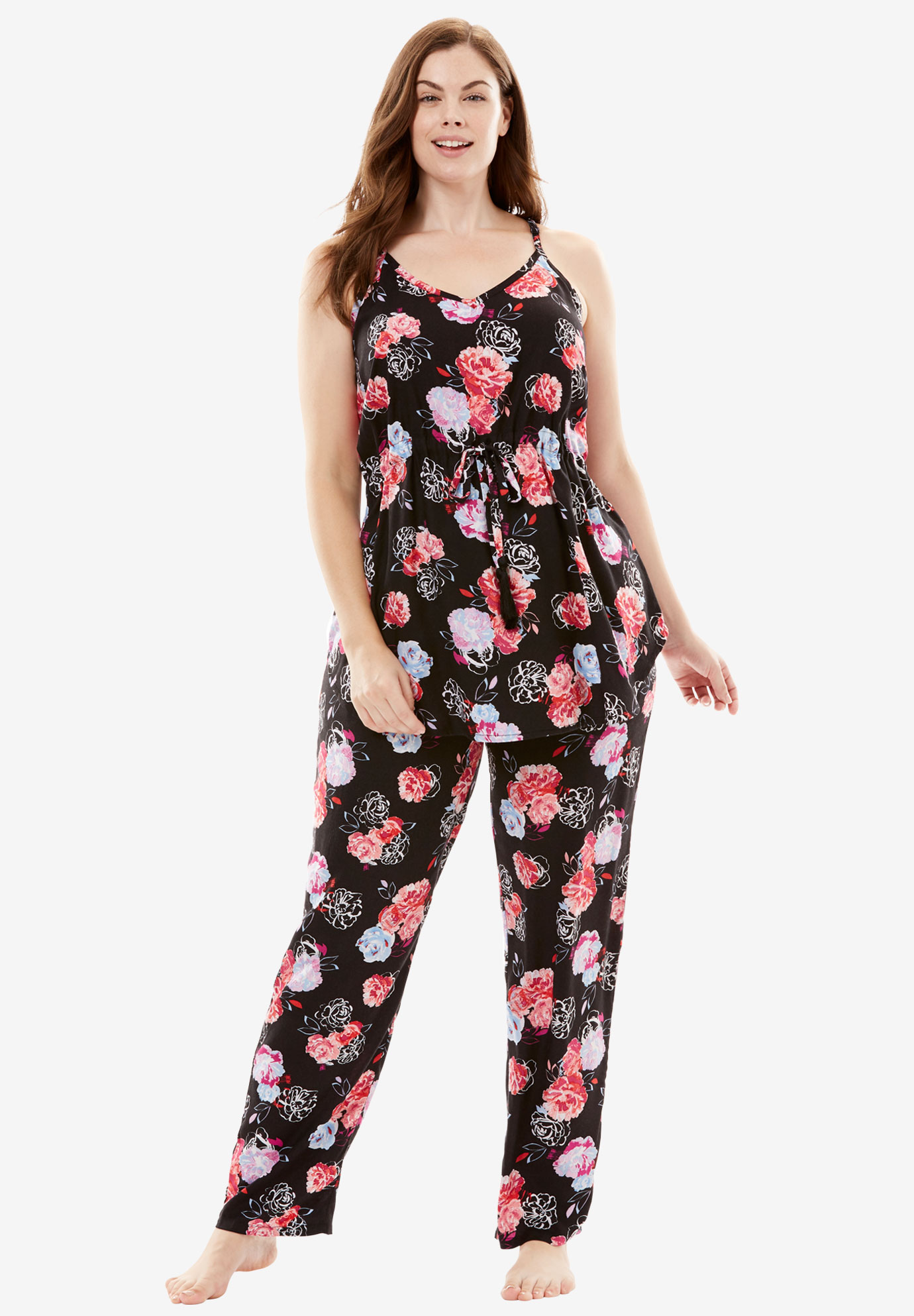The Late-Night Cami PJ Set by Dreams & Co®, SMALL MULTI FLORAL, hi-res