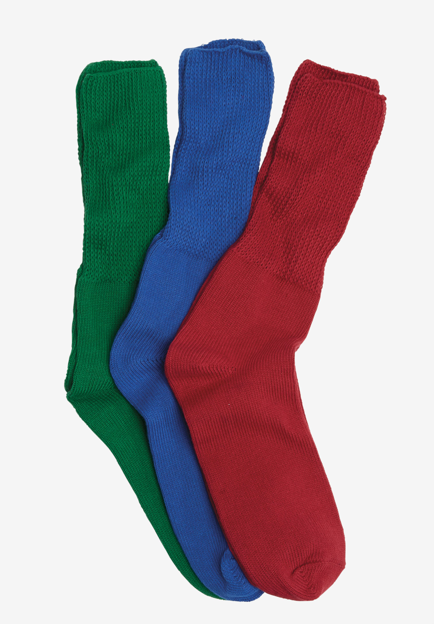 3-Pack Cotton Crew Socks by Comfort Choice®,