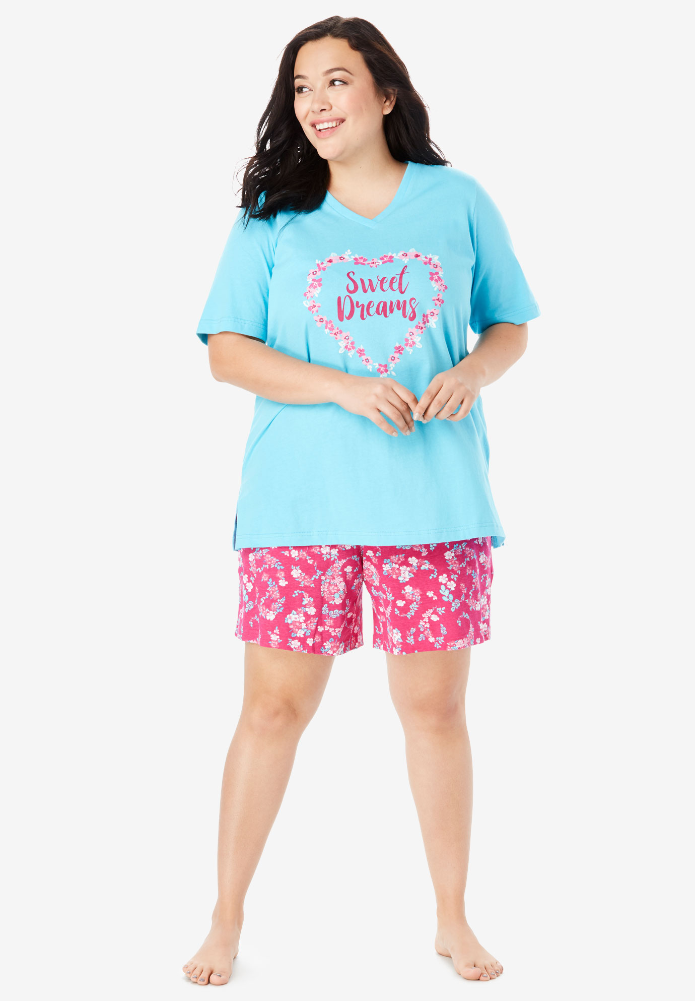 V-Neck Shorty PJ Set by Dreams & Co.®,