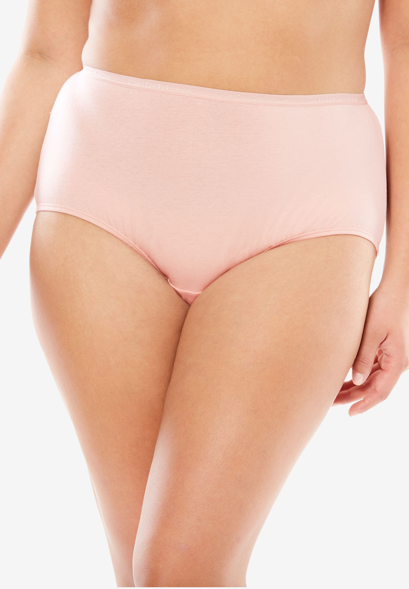 Full-Cut Brief by Comfort Choice®, ROSE NUDE, hi-res