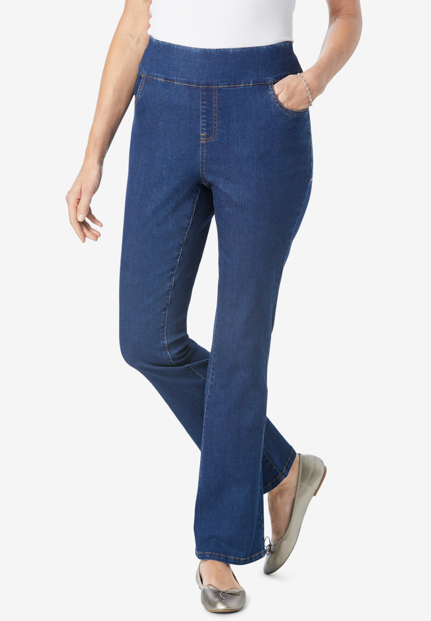 Pull-On Bootcut Jean,