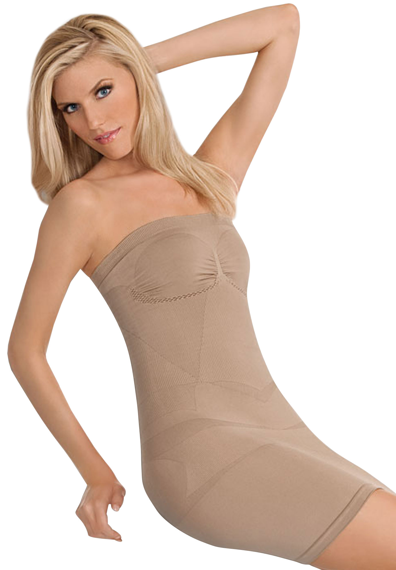 Julie France Strapless Dress Shaper, NUDE, hi-res