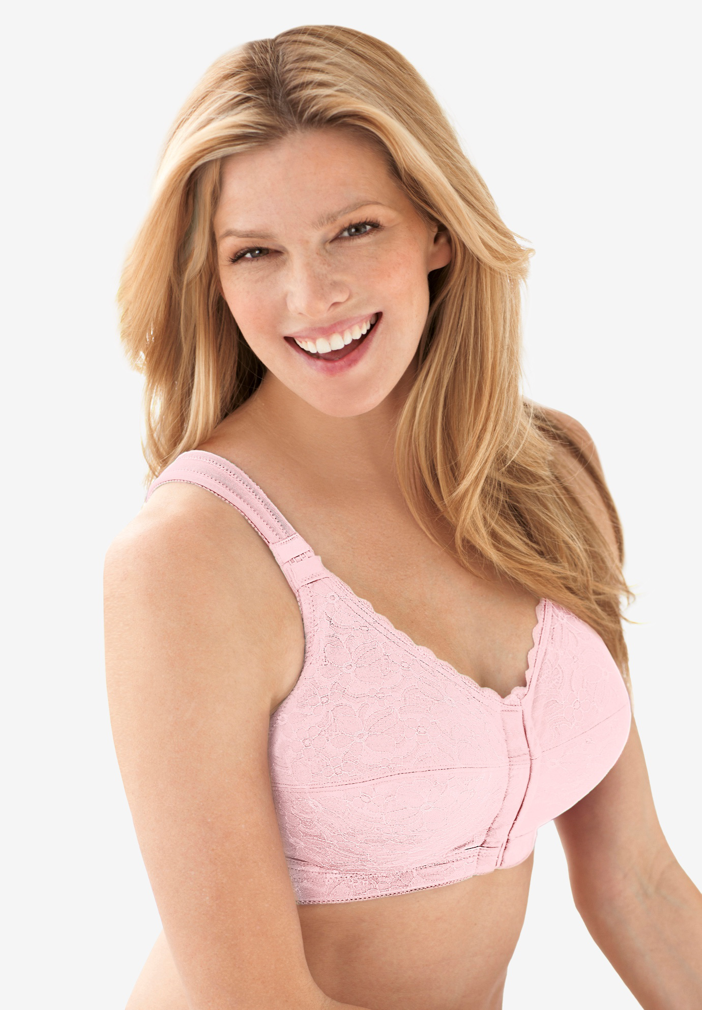 Lace Wireless Posture Bra ,