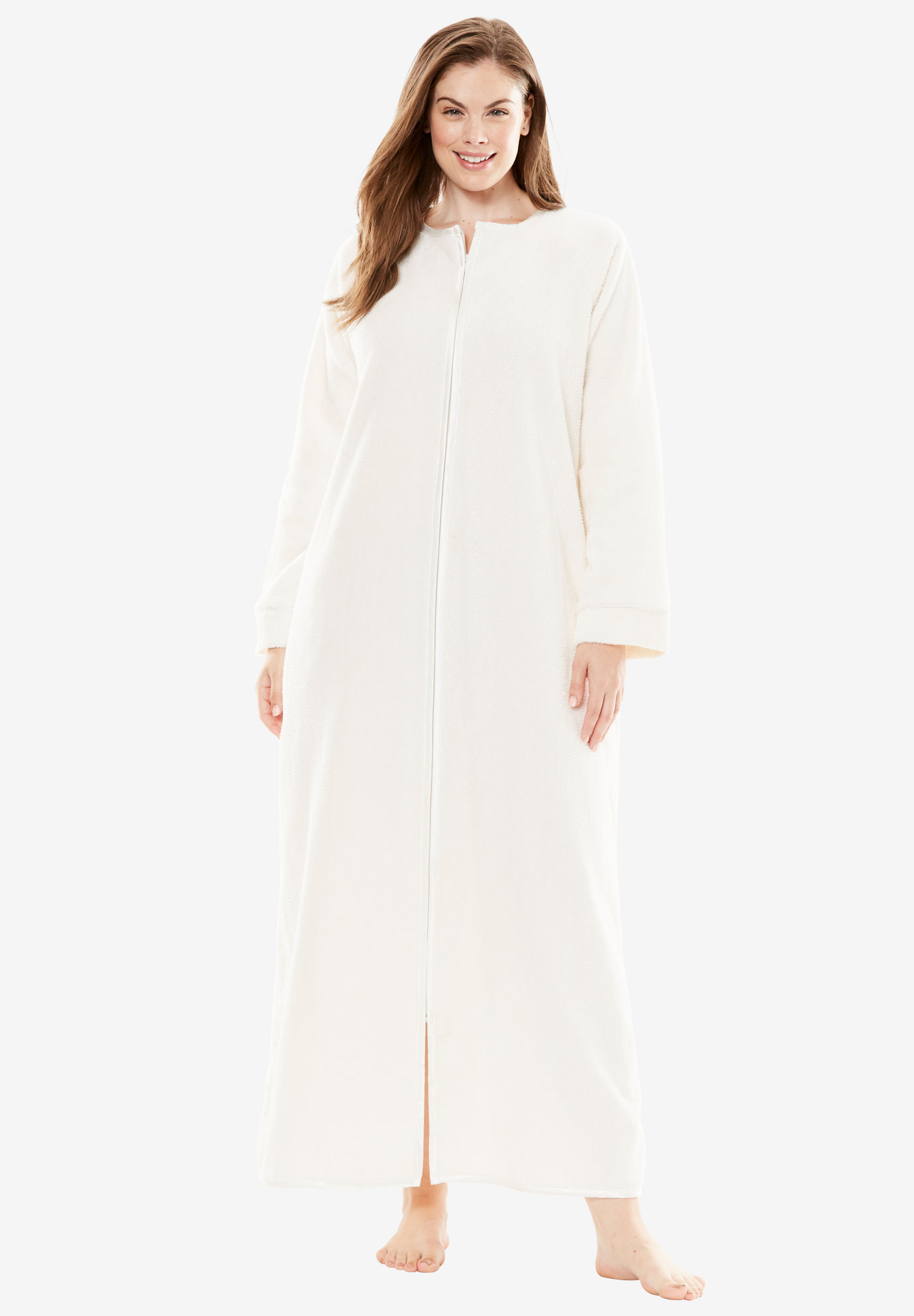 Chenille Robe by Only Necessities®, IVORY, hi-res