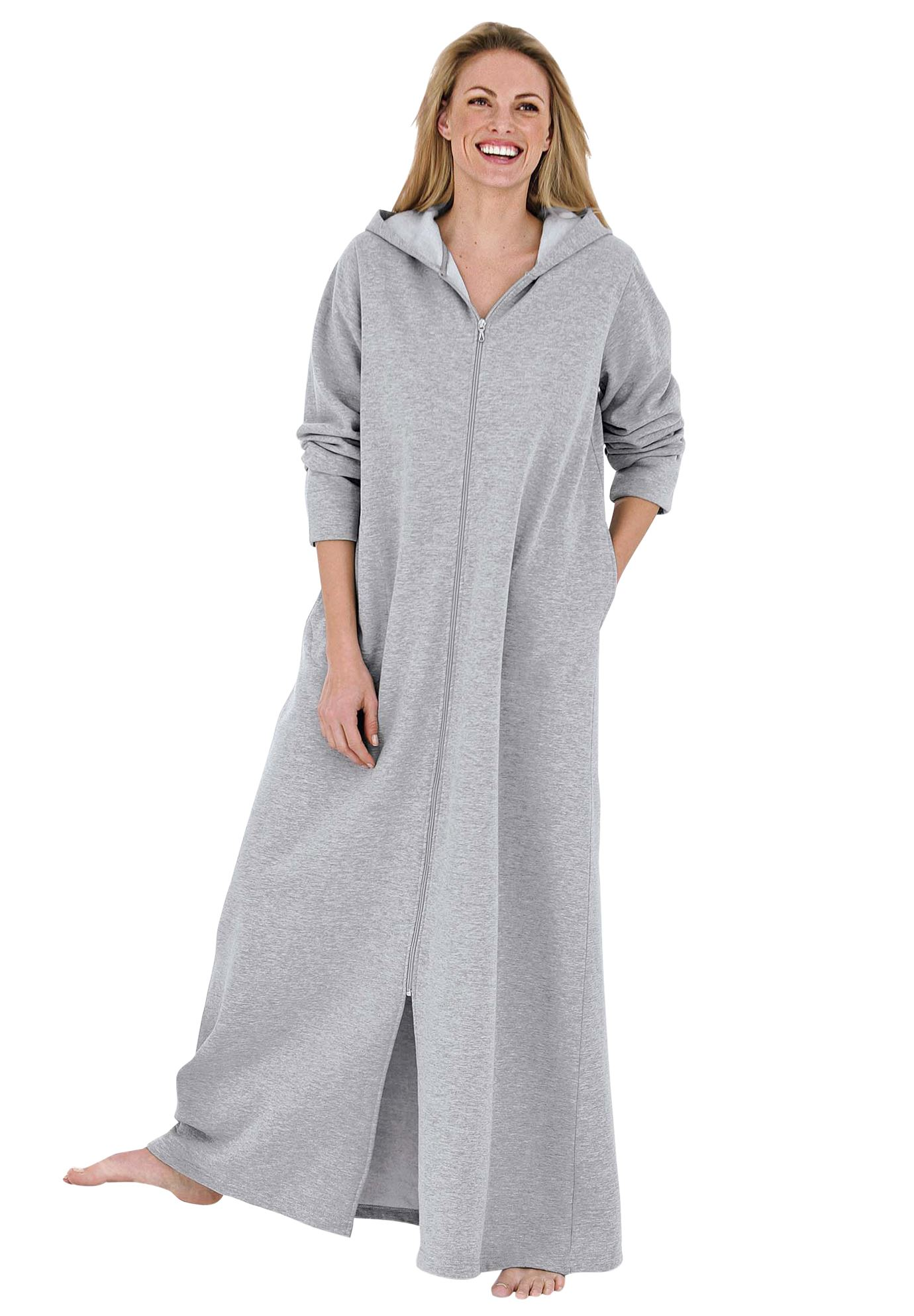 Long Fleece Hooded Robe by Dreams & Co.®,