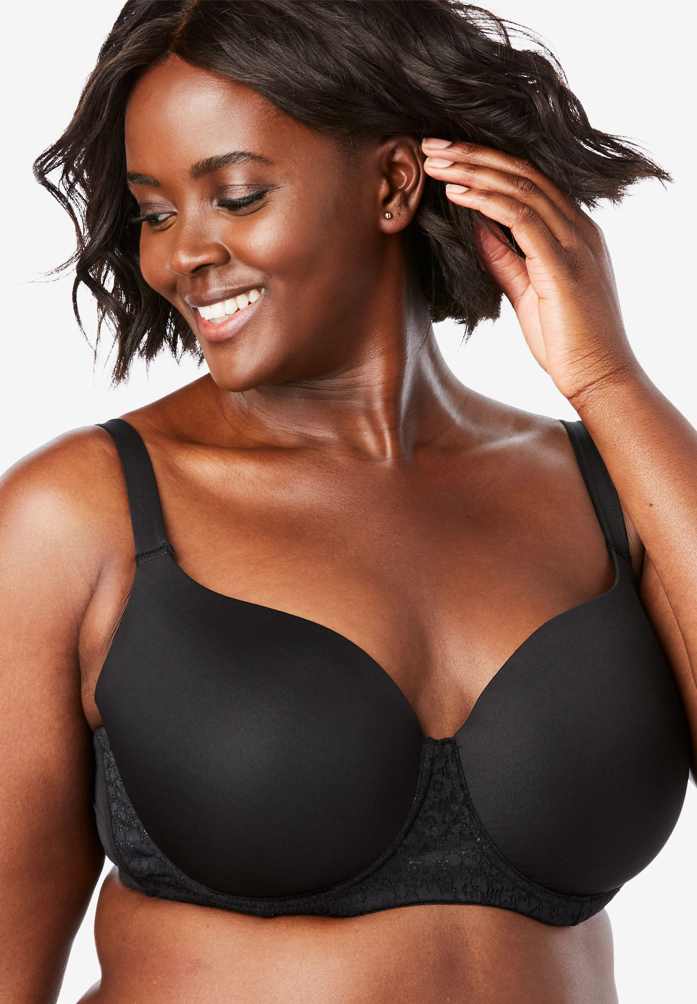 Lace Trim Balconette T-Shirt Bra by Comfort Choice®,