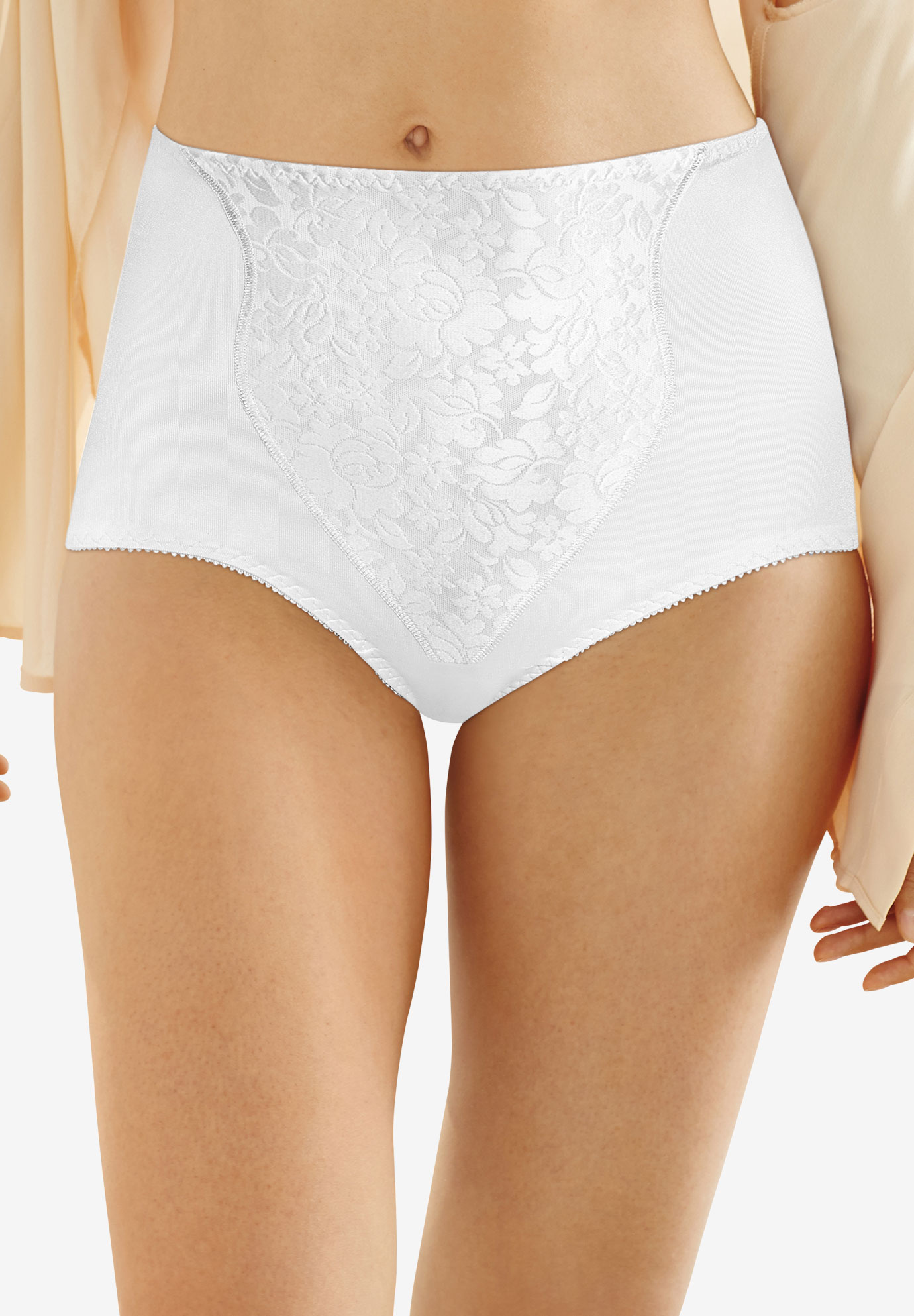 Bali® Light Control Lace Panel Brief 2-Pack #X372,