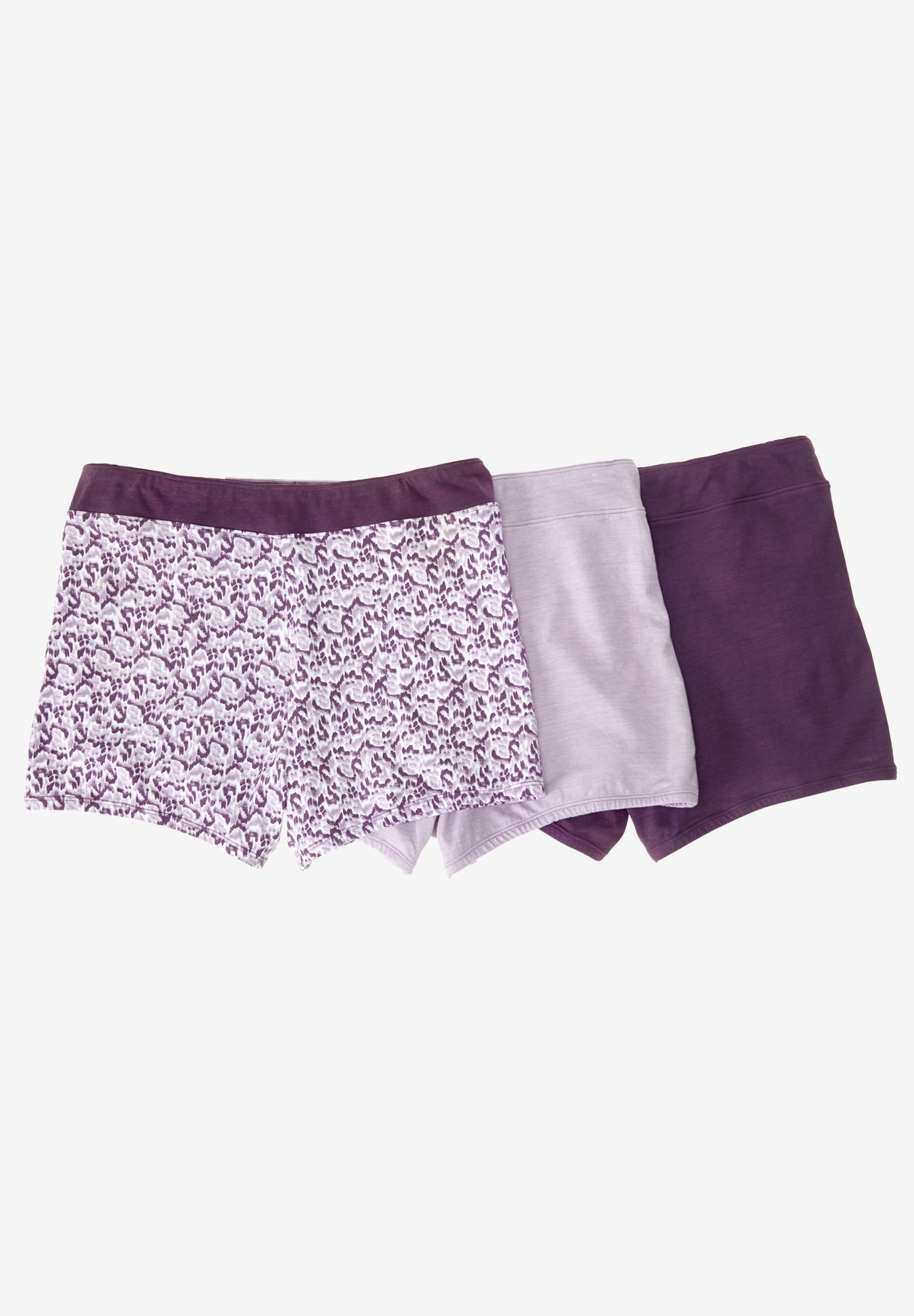 Boyshorts 3-Pack by Comfort Choice®, MISTY PURPLE PACK, hi-res