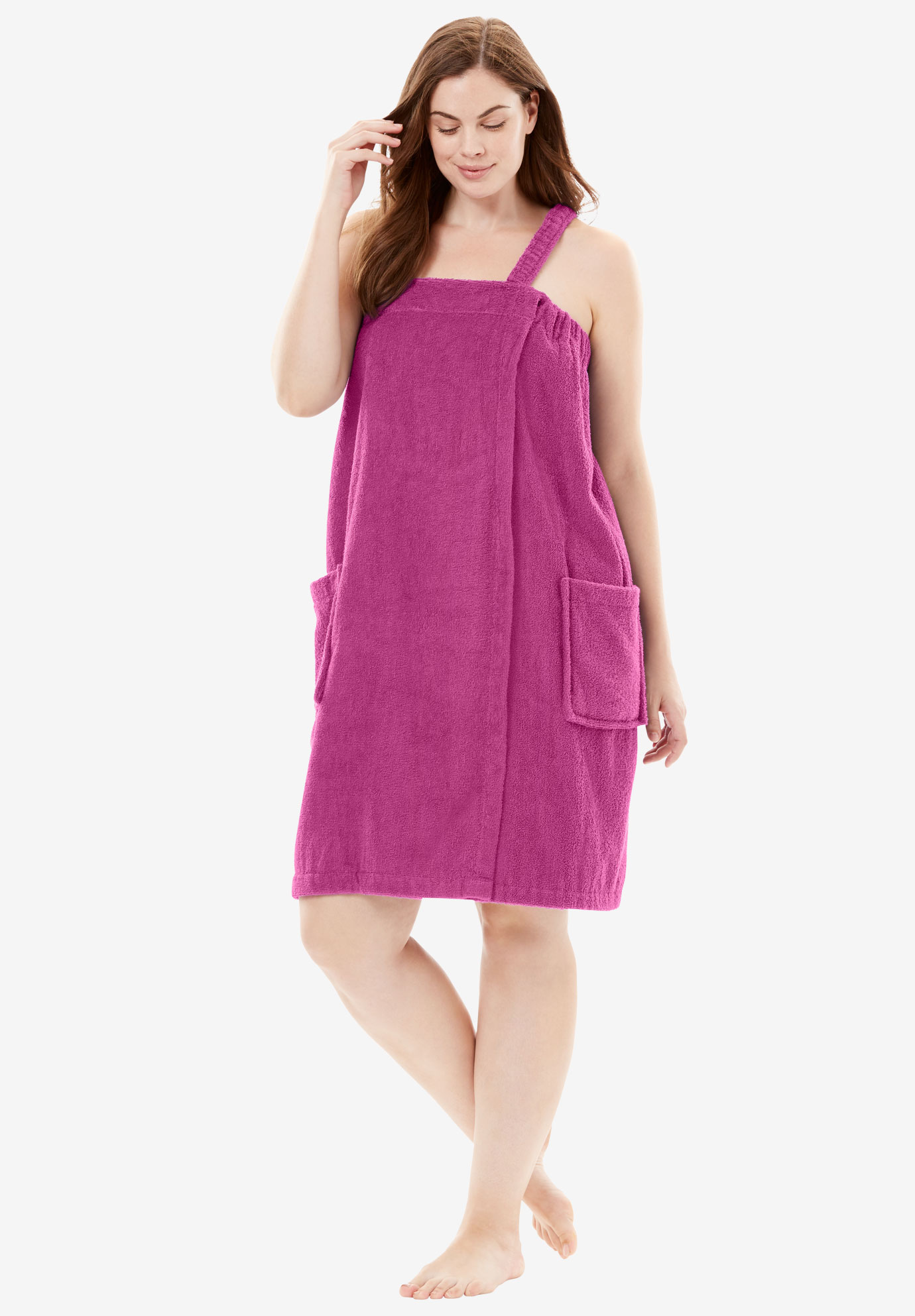 Wearable Towel By Dreams & Co., BRIGHT BERRY, hi-res