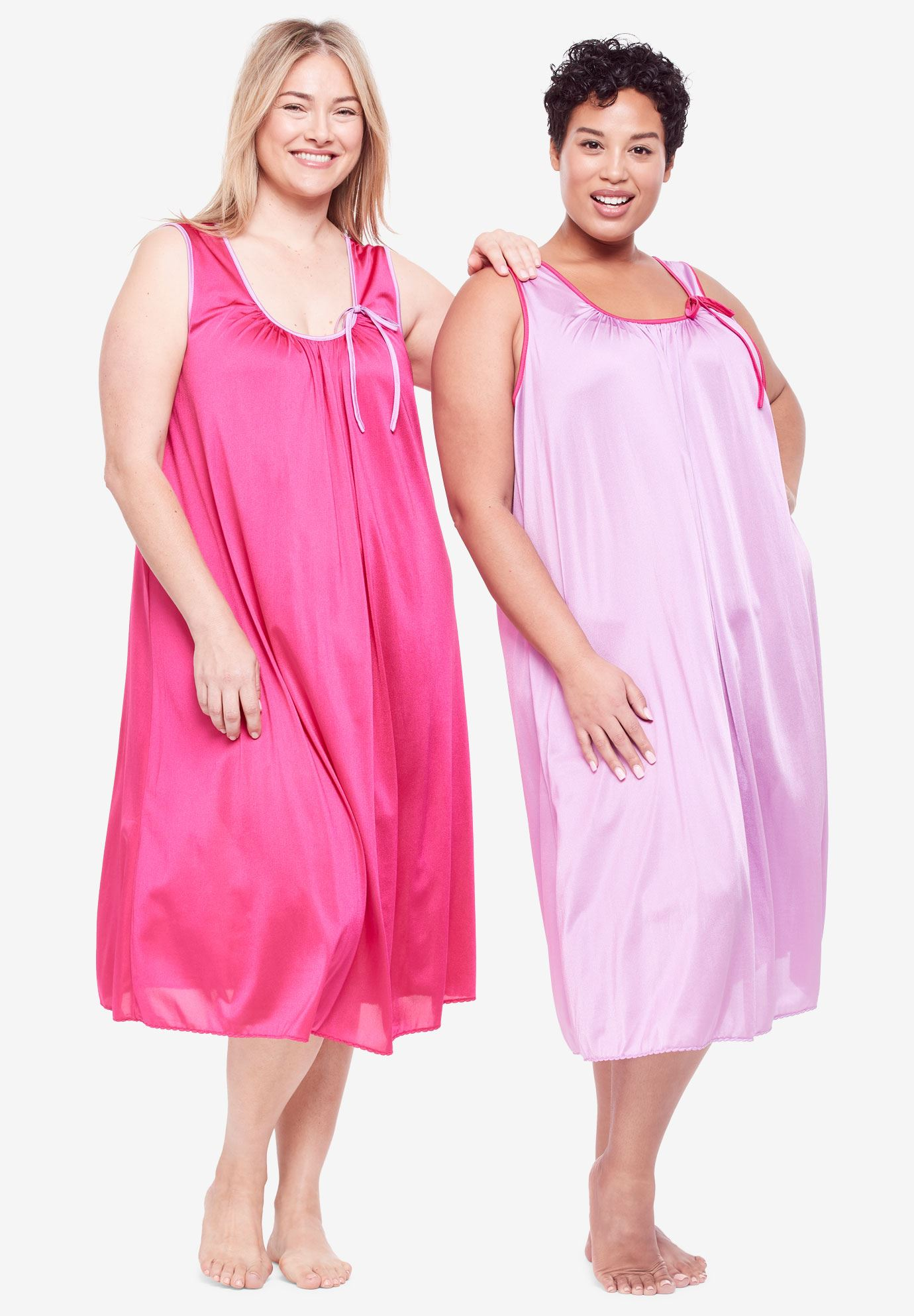 2-Pack Sleeveless Nightgown by Only Necessities® | Plus Size ...