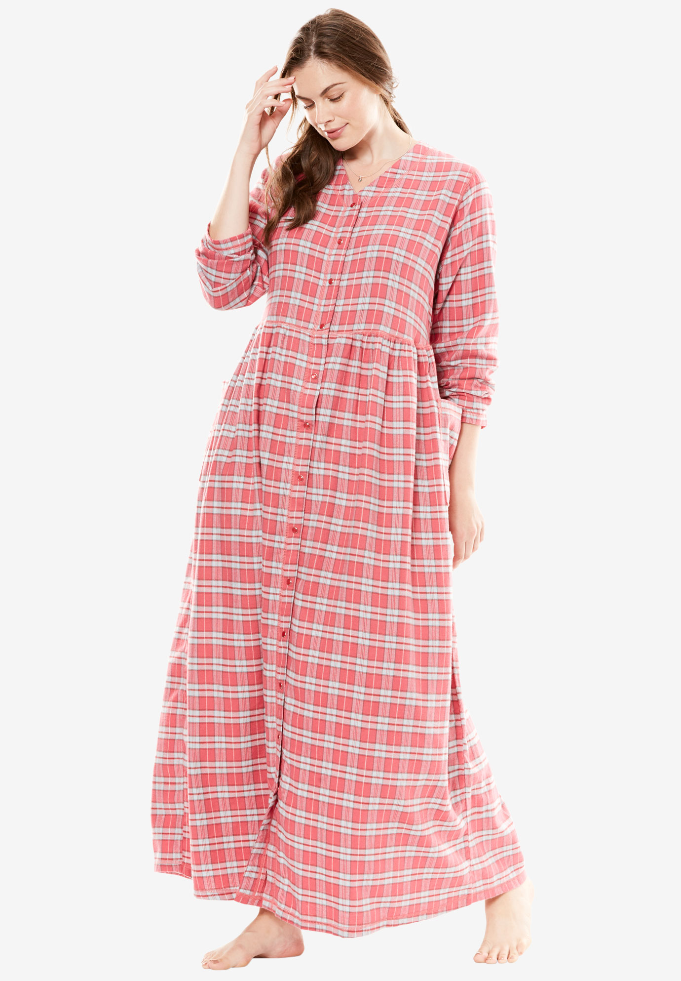 Flannel Plaid Lounger by Only Necessities® | Plus Size Clearance ...
