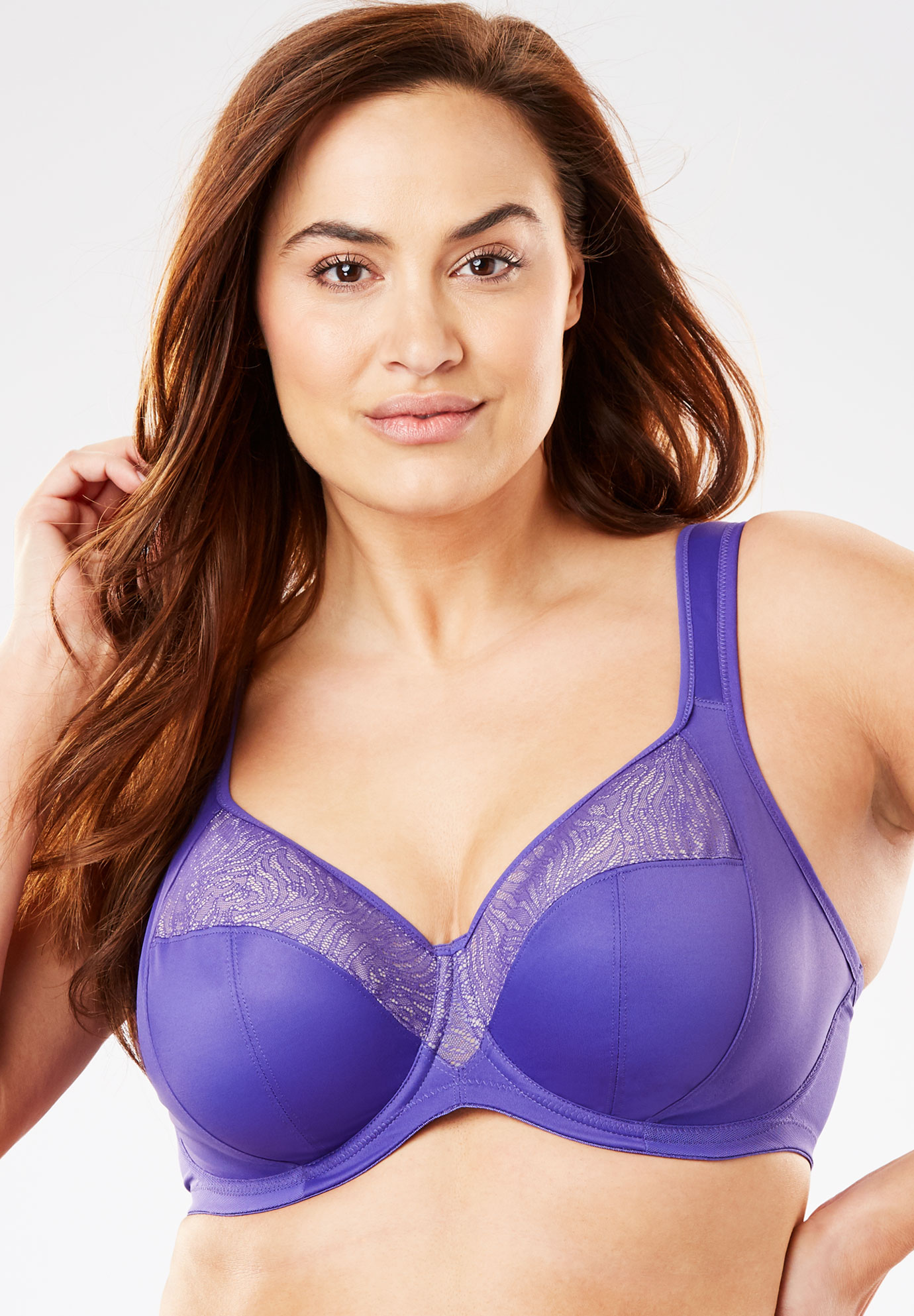 Goddess® Heather Banded Underwire Bra #6060,
