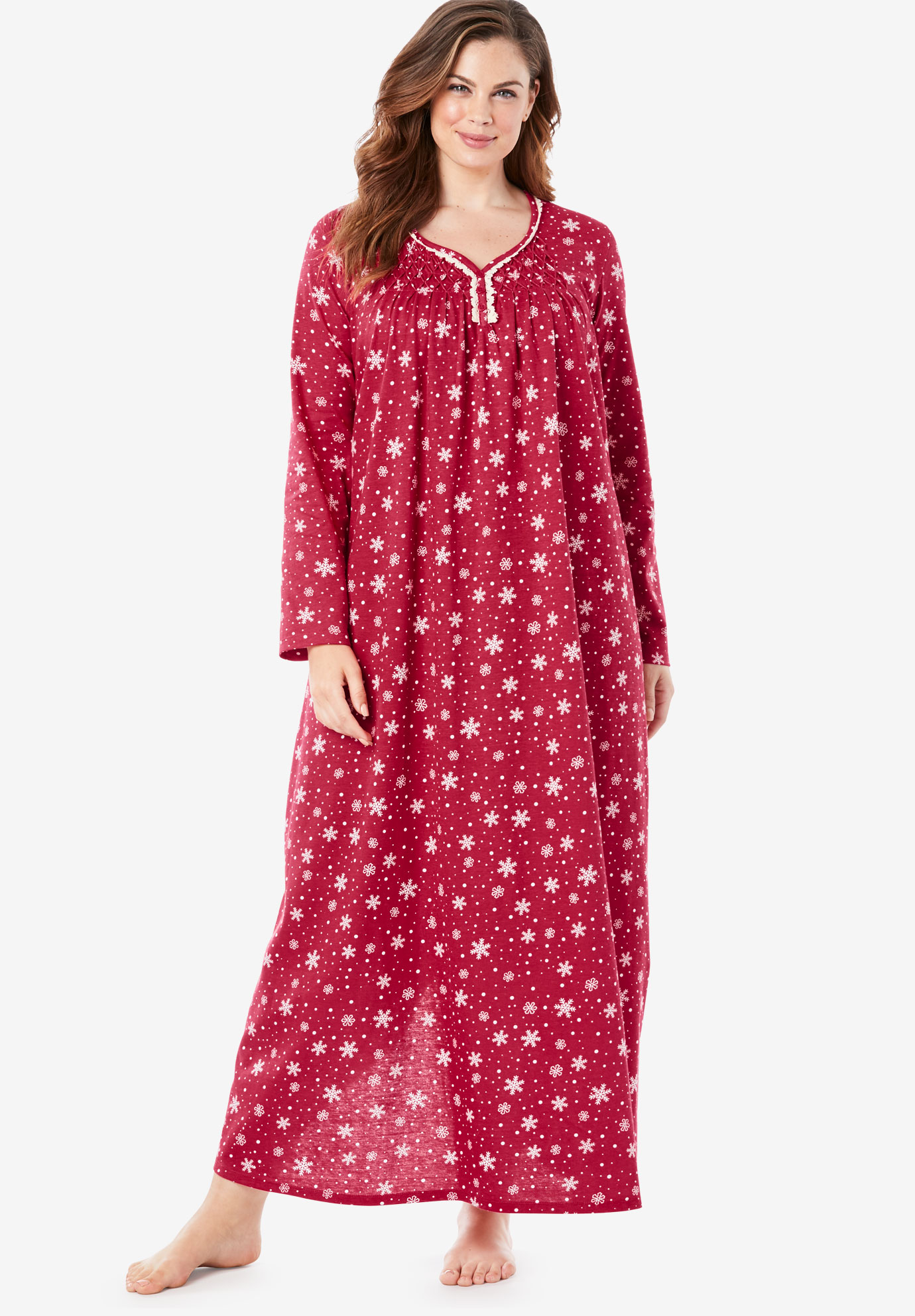 Long Pintucked Sleep Gown by Only Necessities®,
