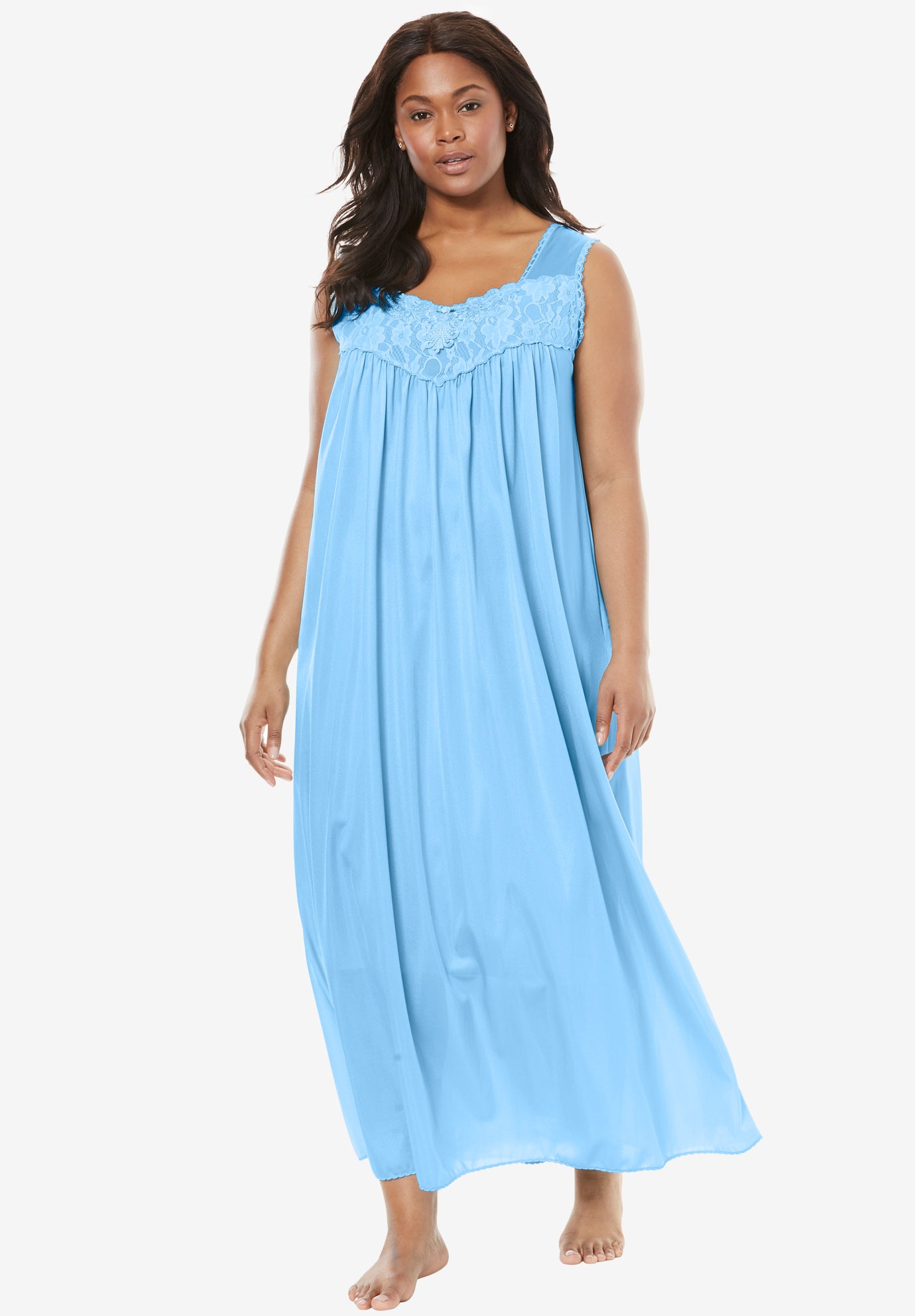 Long Tricot Knit Nightgown by Only Necessities® | Plus Size ...