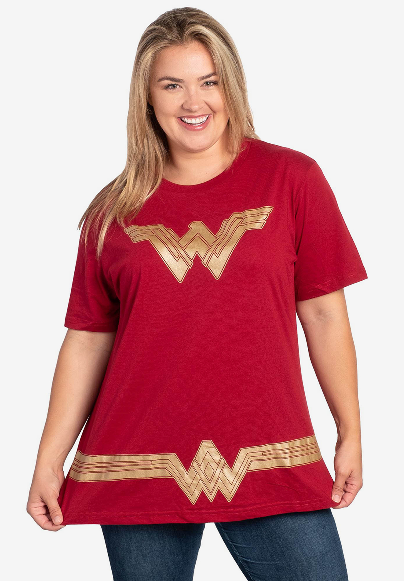 DC Comics Wonder Woman Logo & Belt T-Shirt,