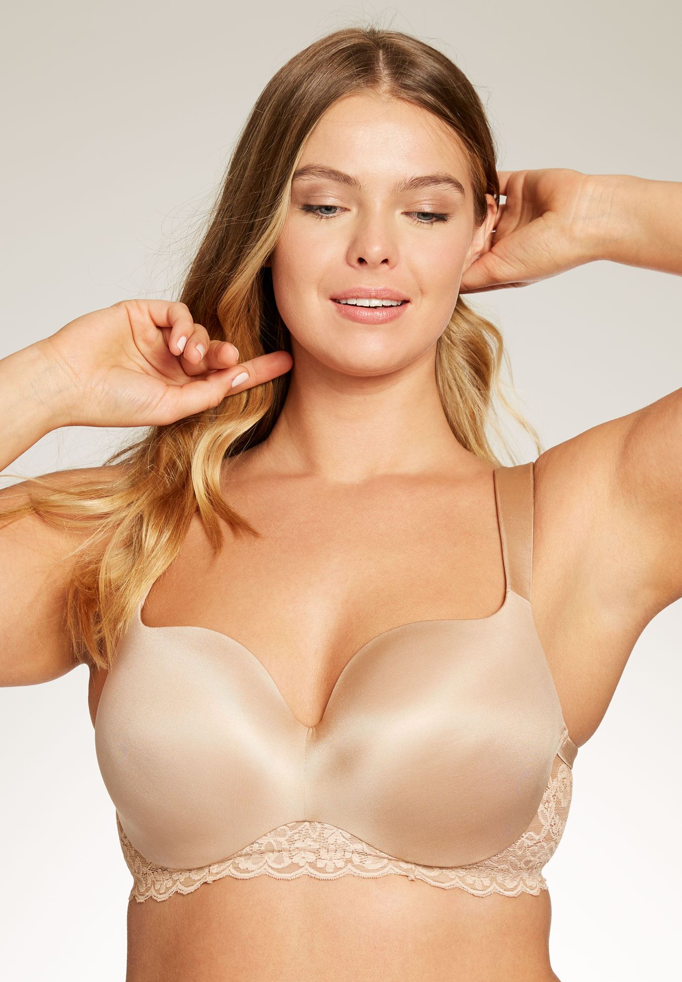 Seamless Underwire T-Shirt Bra by Amoureuse®, NUDE, hi-res