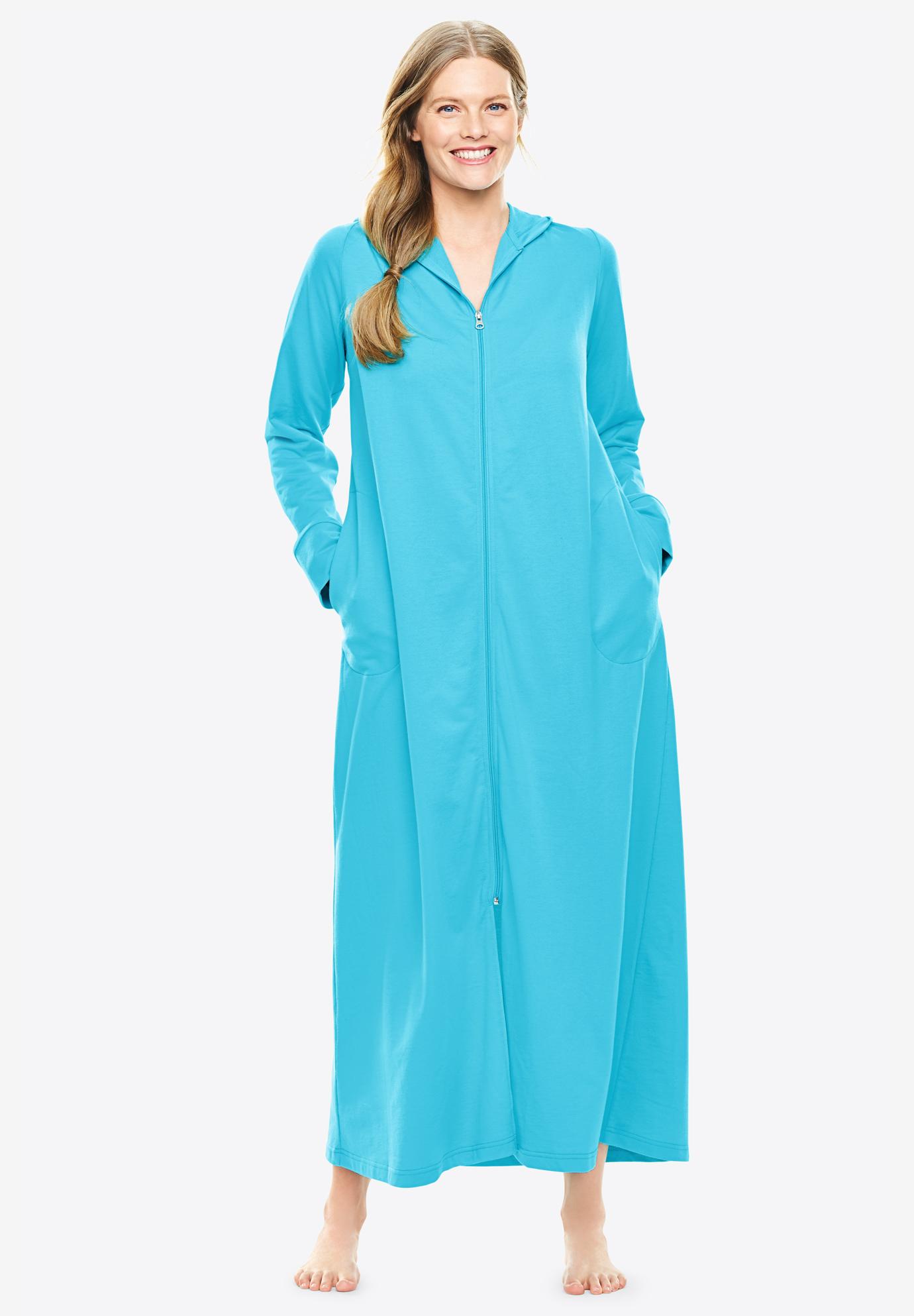 4cb8d56cd47 Long Zip-Front Robe by Dreams   Co.®