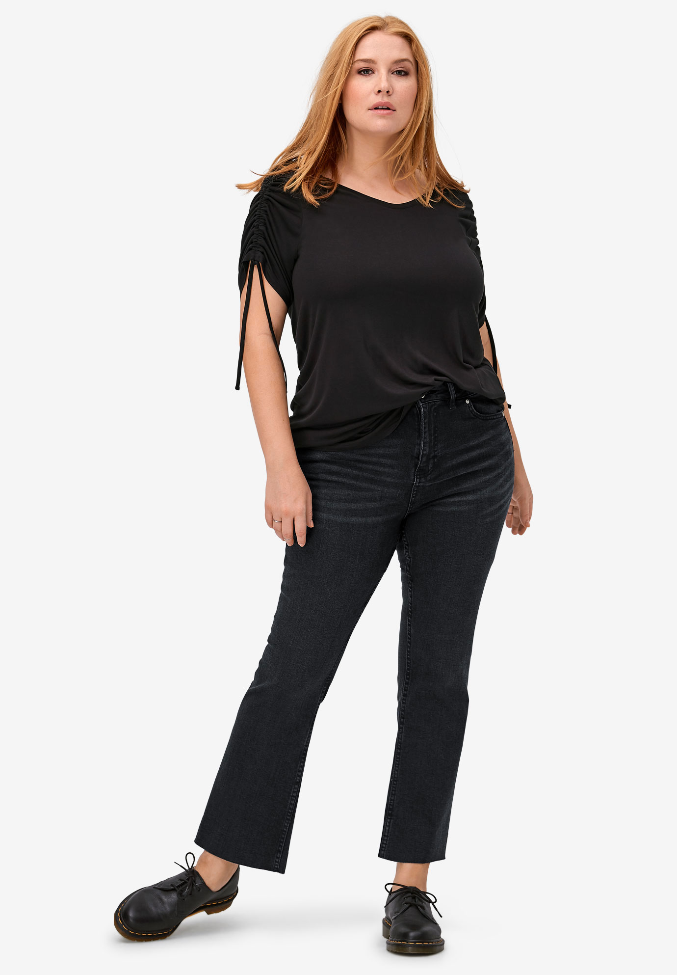 Crop Bootcut Jeans,