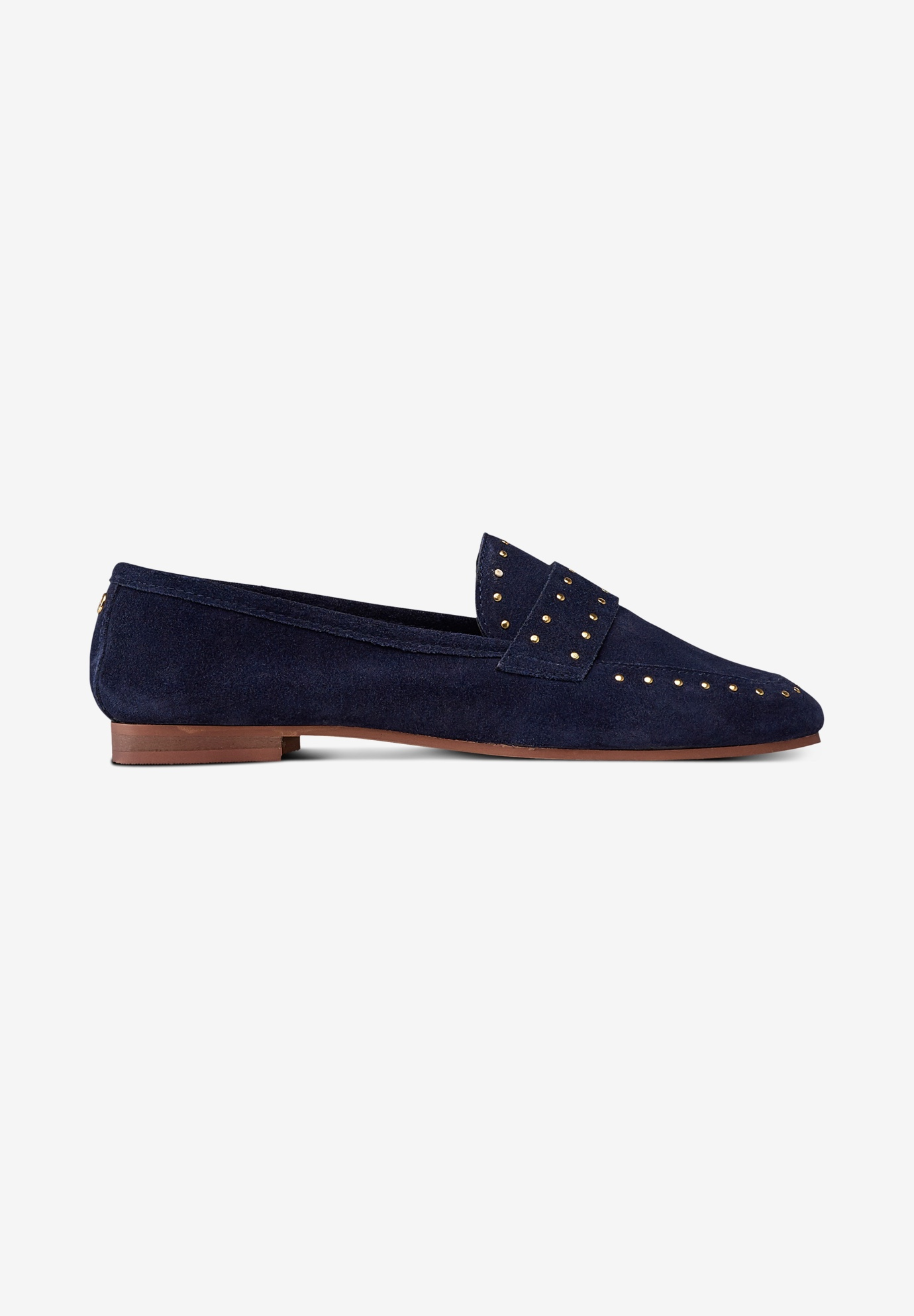 Studded Suede Loafers,