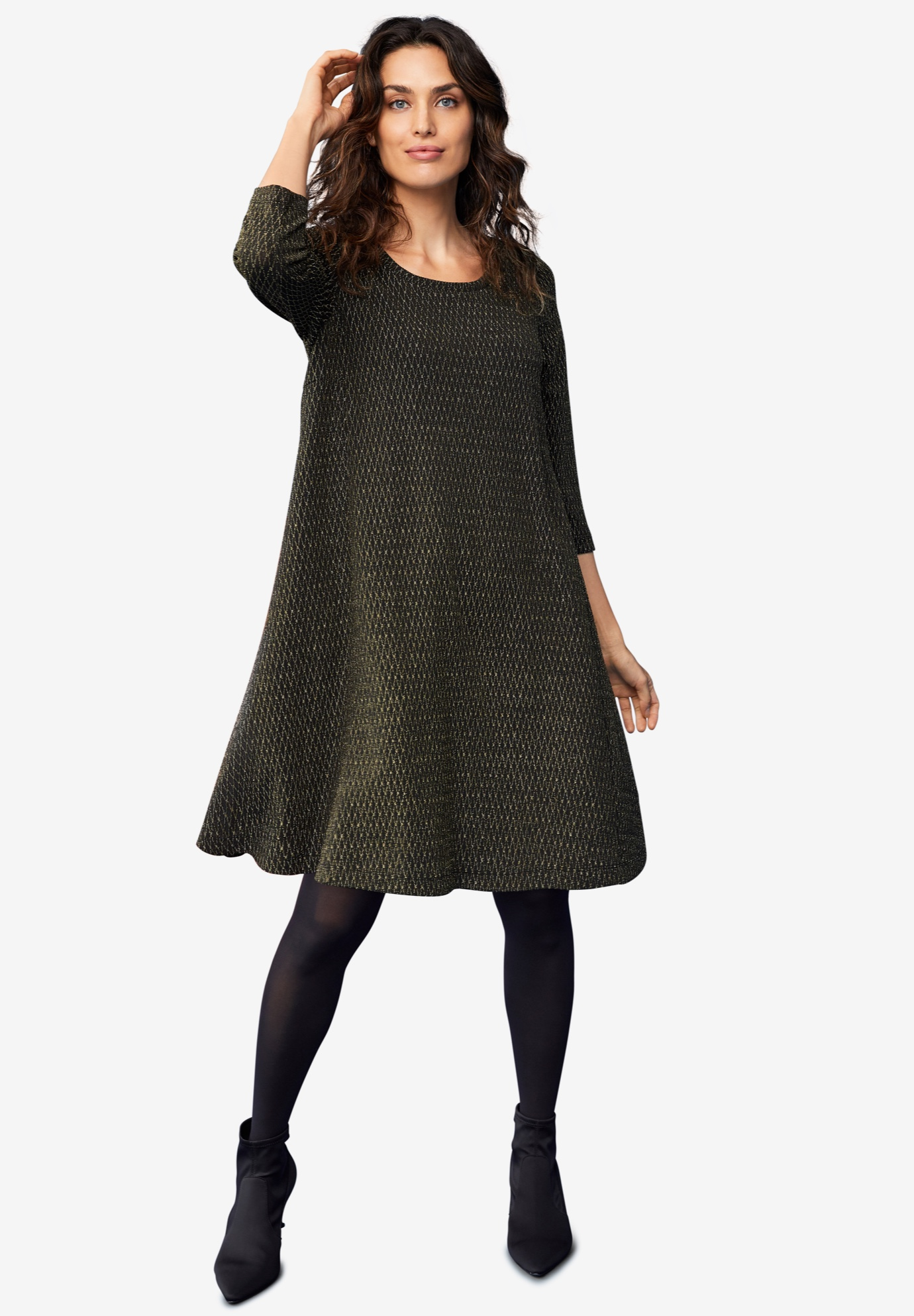 glitter knit dressellos® plus size casual dresses