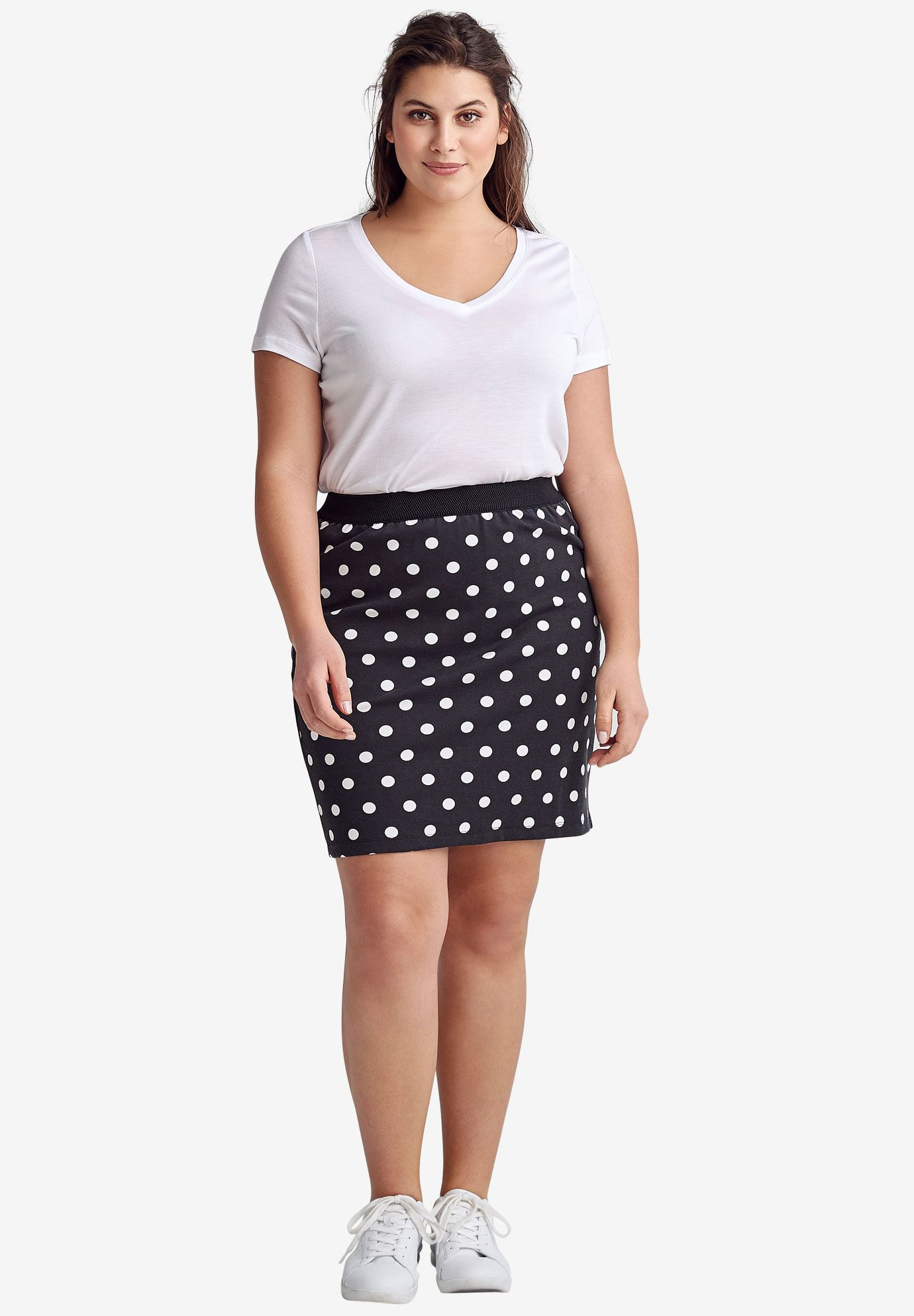 Knit Pencil Skirt by ellos®,