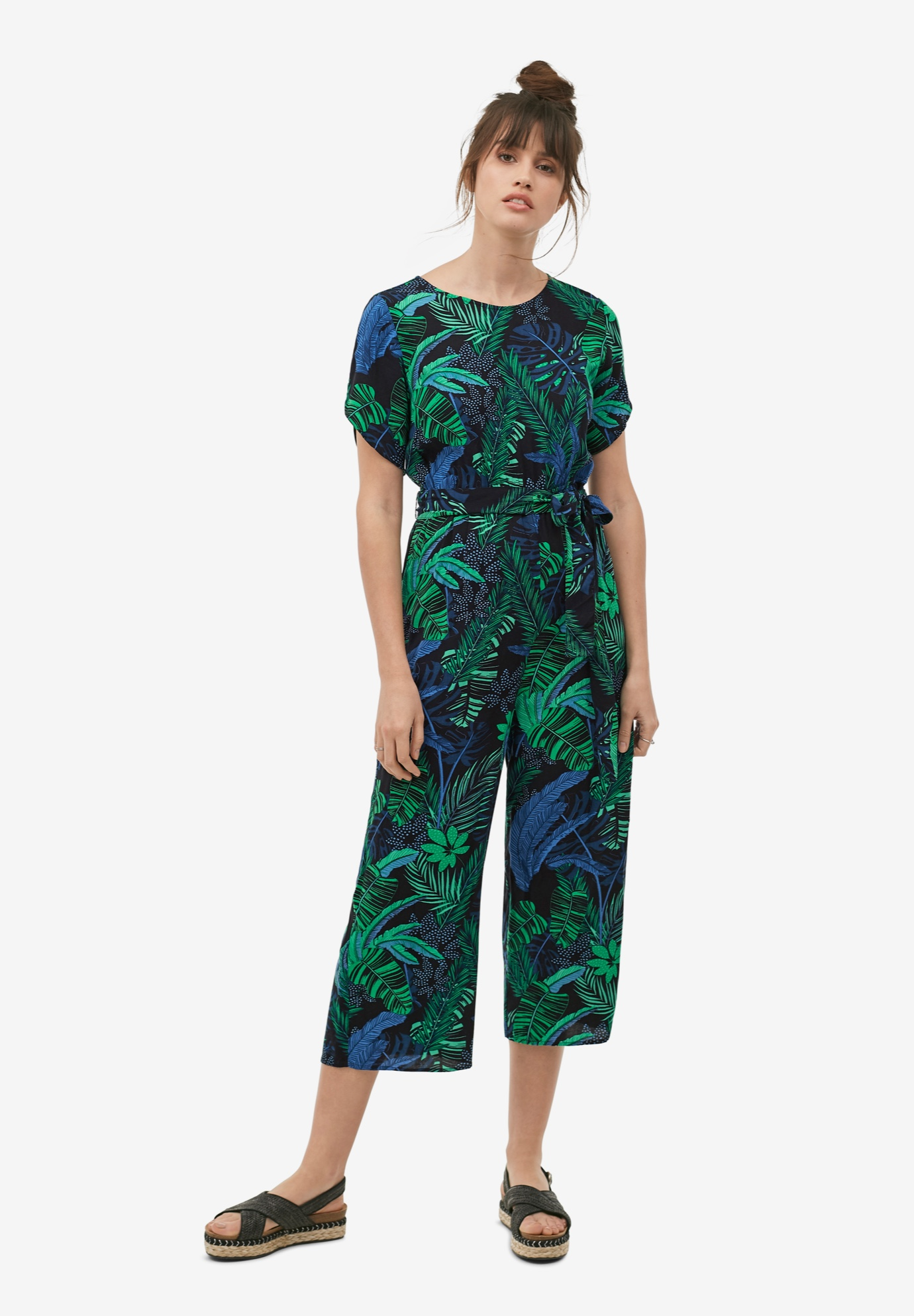 Wide-Leg Cropped Jumpsuit by ellos®,