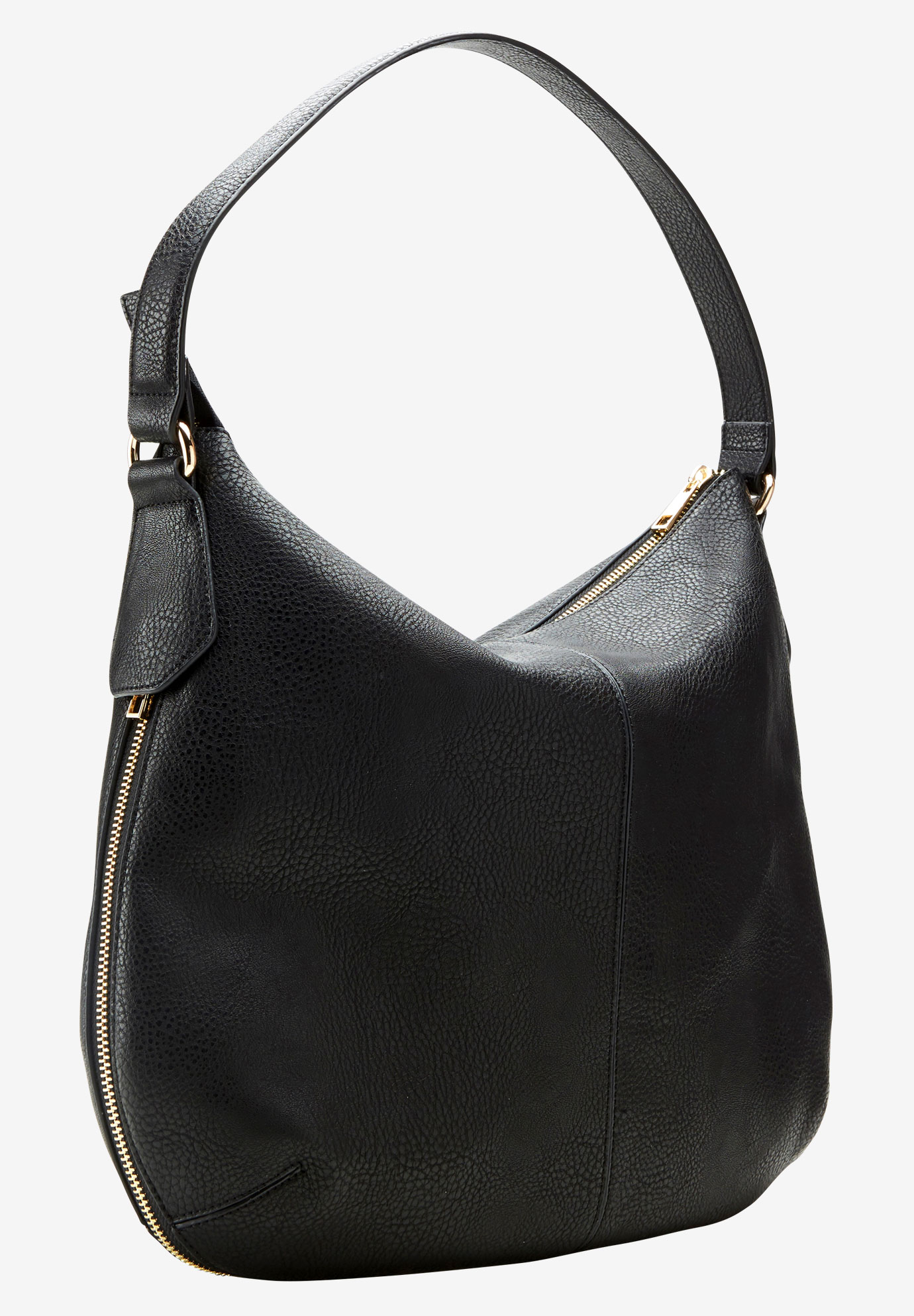 Expandable Hobo Bag by ellos®, BLACK