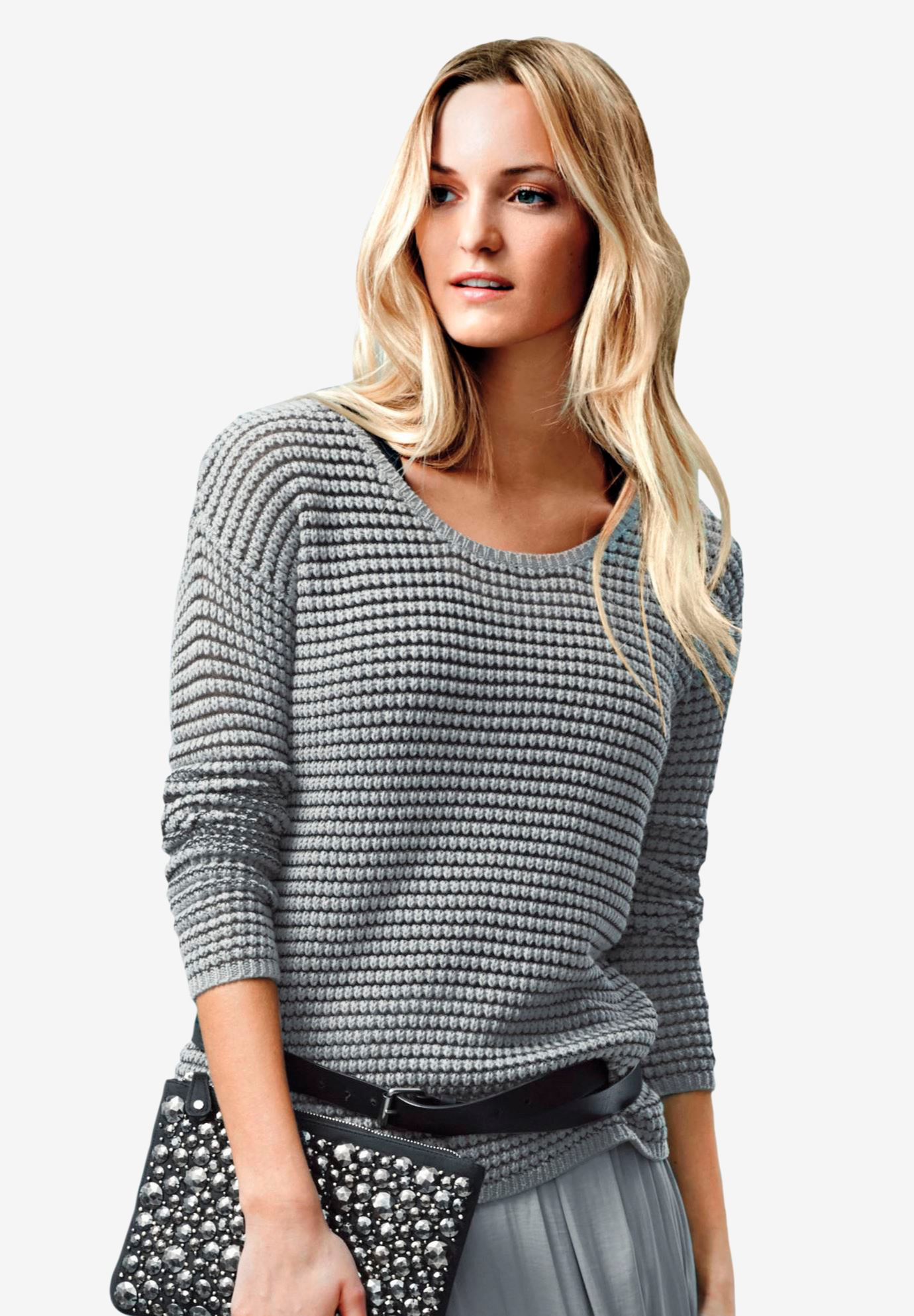 Chunky Knit Sweater by Ellos®, GUNMETAL, hi-res