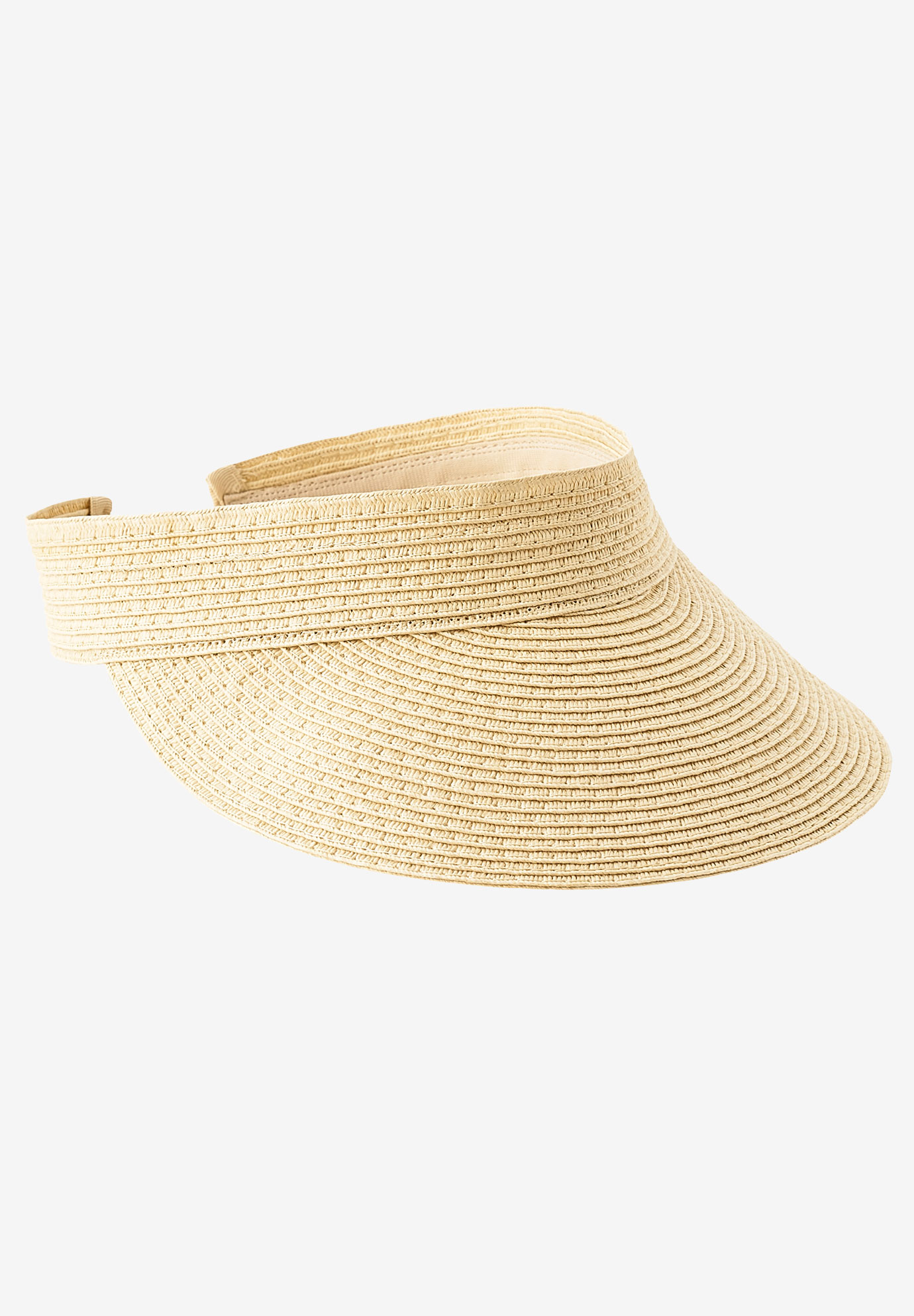 Straw Visor by ellos®, NATURAL STRAW