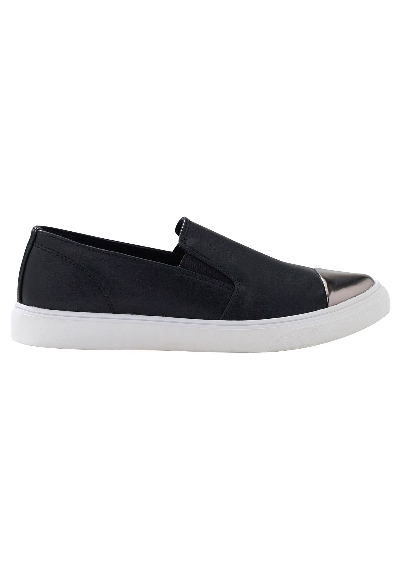 Faux Leather Slip-On Sneakers by ellos®,