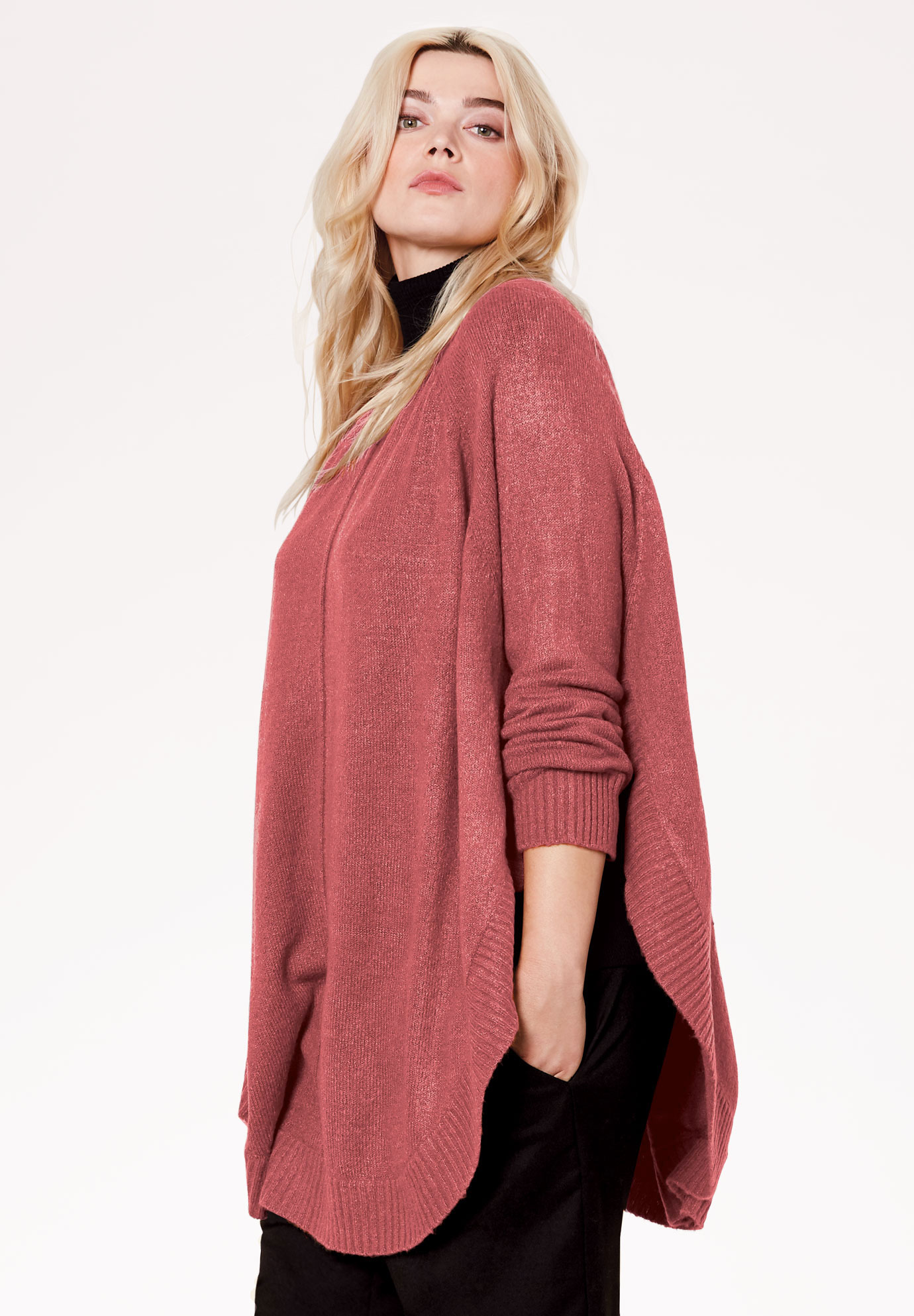 Poncho Pullover by ellos®,