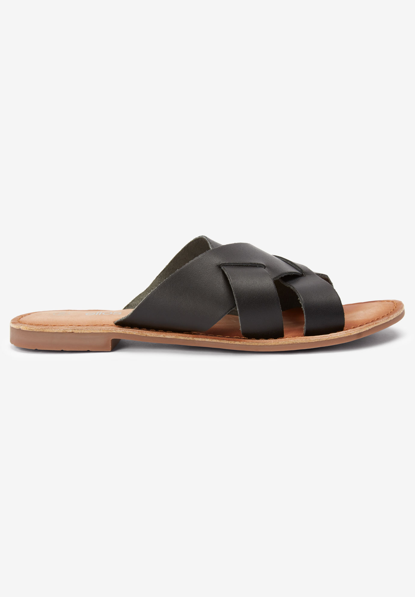 Multi-Strap Leather Sandal by ellos®,
