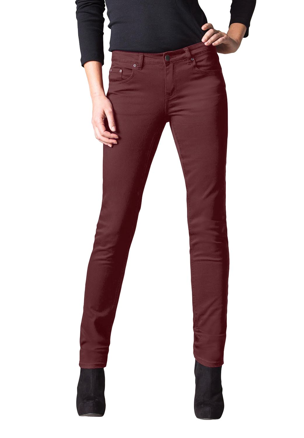 Straight Leg Twill Pants by ellos®,
