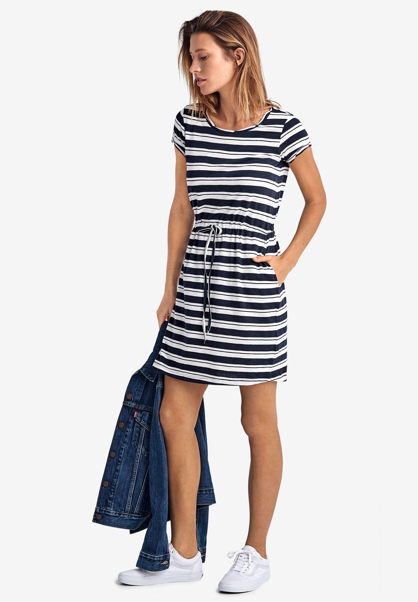 Knit Drawstring Dress by ellos® | Plus Size Casual Dresses ...