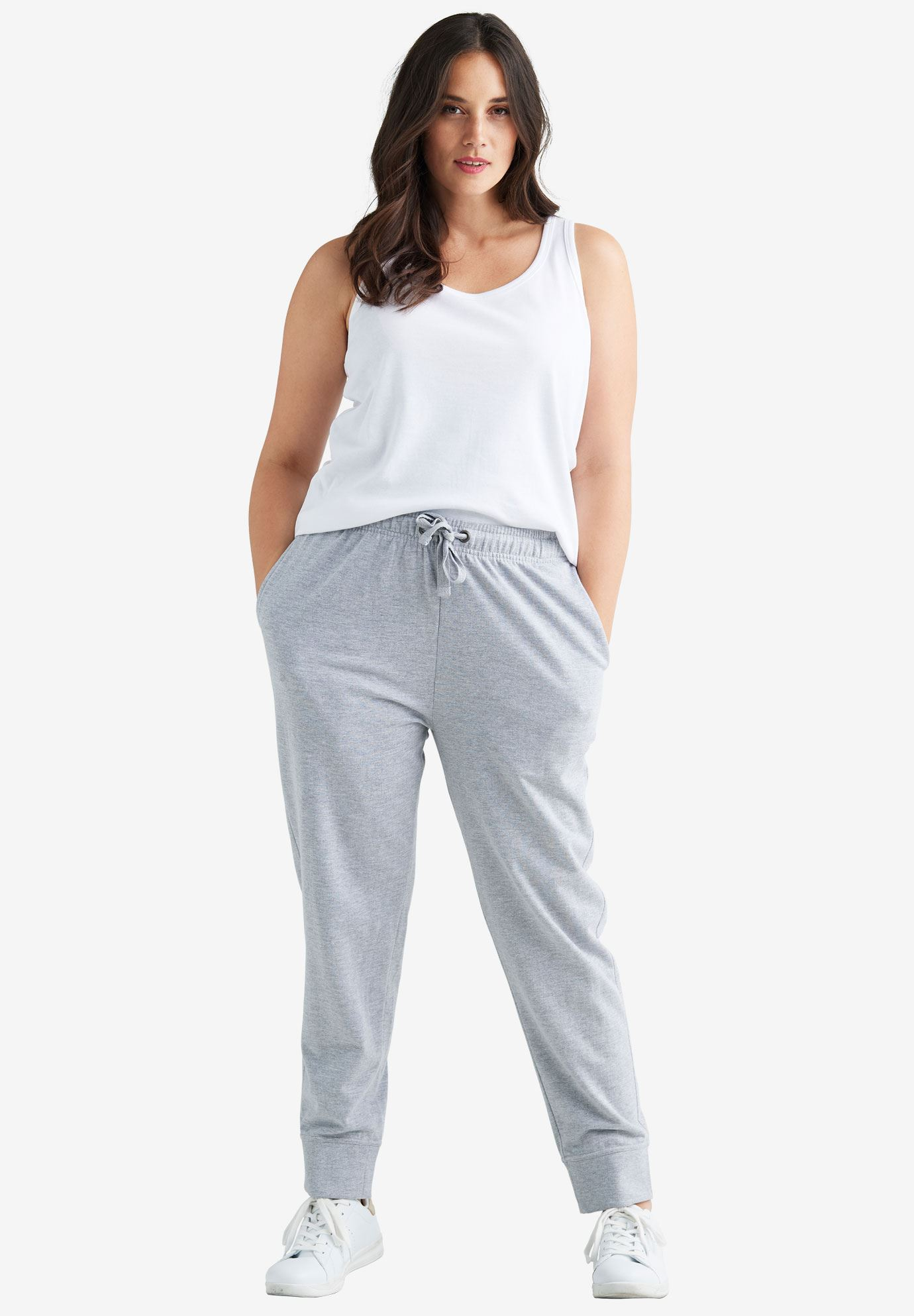 French Terry Drawstring Sweatpants,