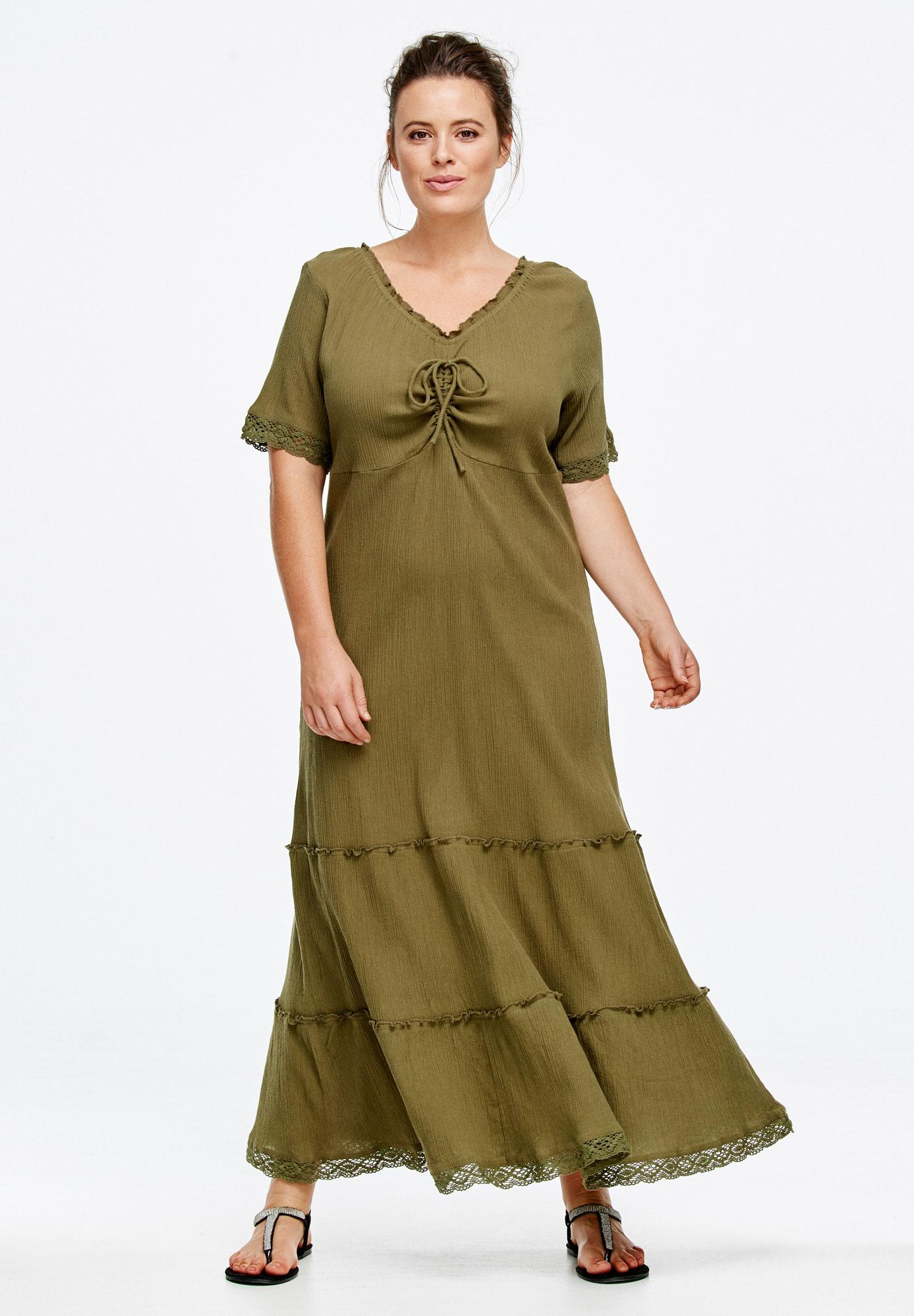 Gauze Maxi Dress By Ellos 174 Plus Size Dresses Roaman S