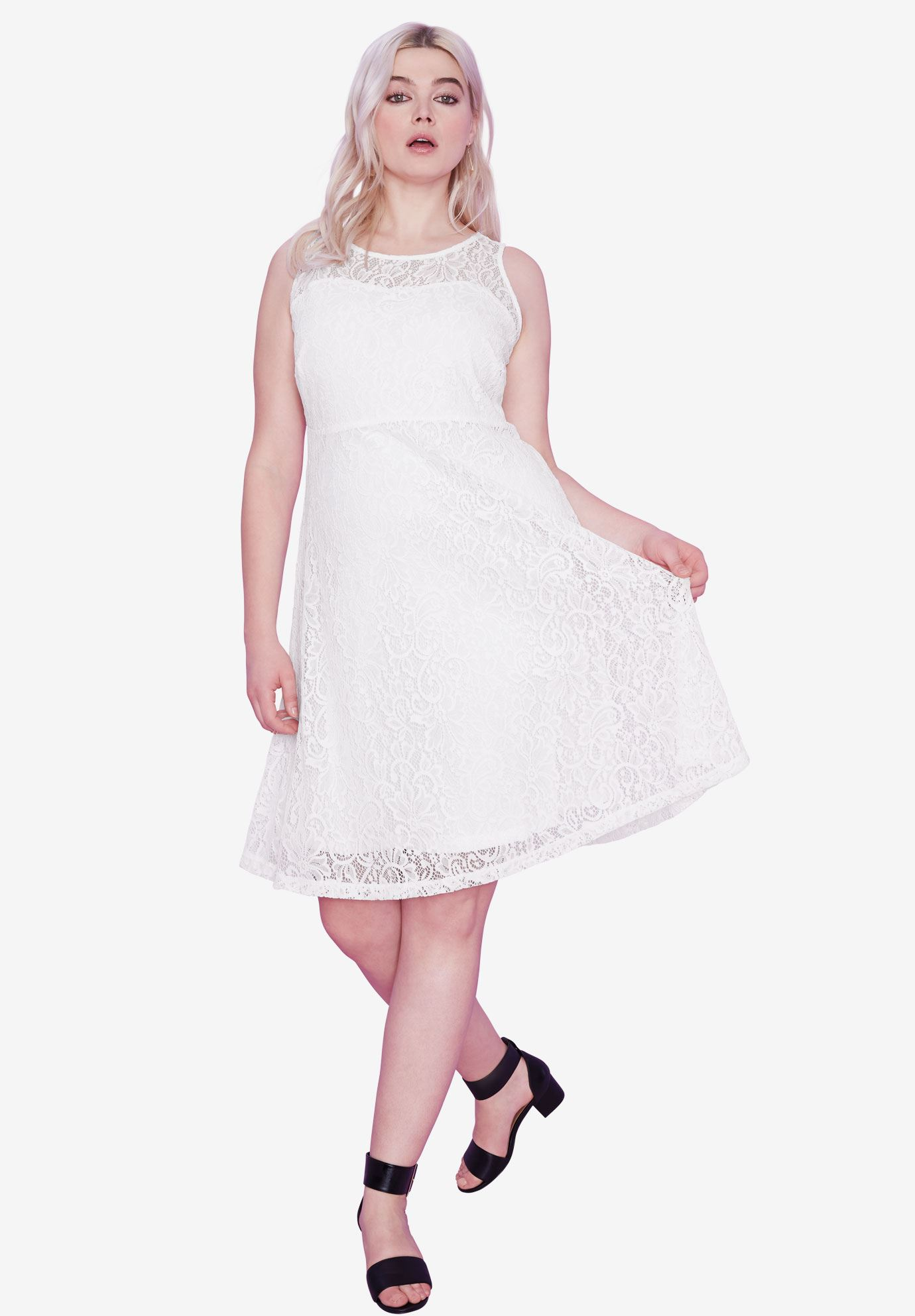 Sleeveless Stretch Lace Dress by ellos®,