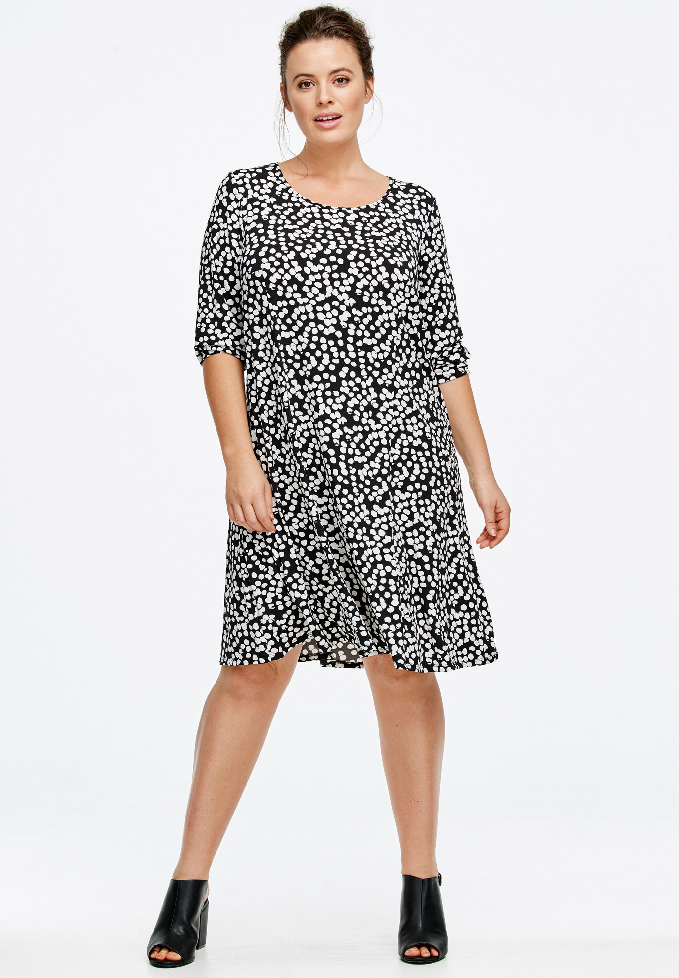 printed long sleeve aline dressellos® plus size