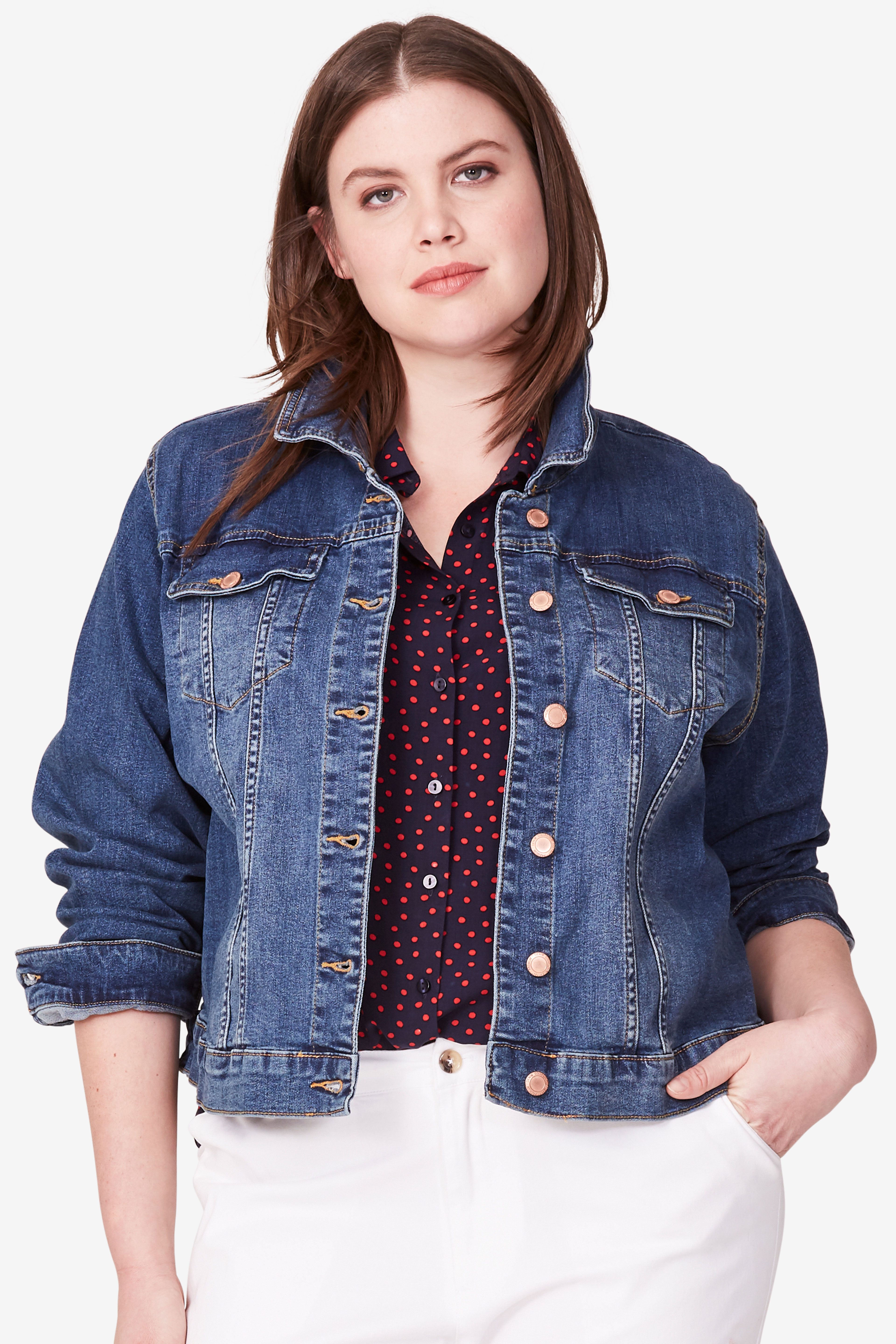 Cropped Denim Jacket by ellos®,