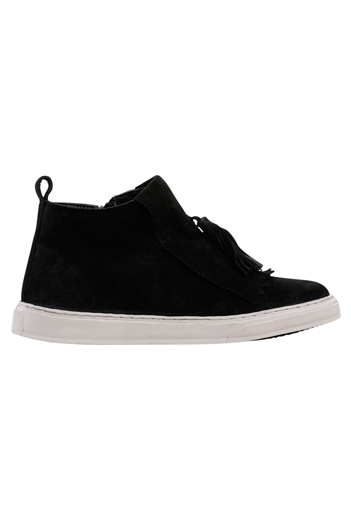 Fringe High Top Suede Sneaker by ellos®,