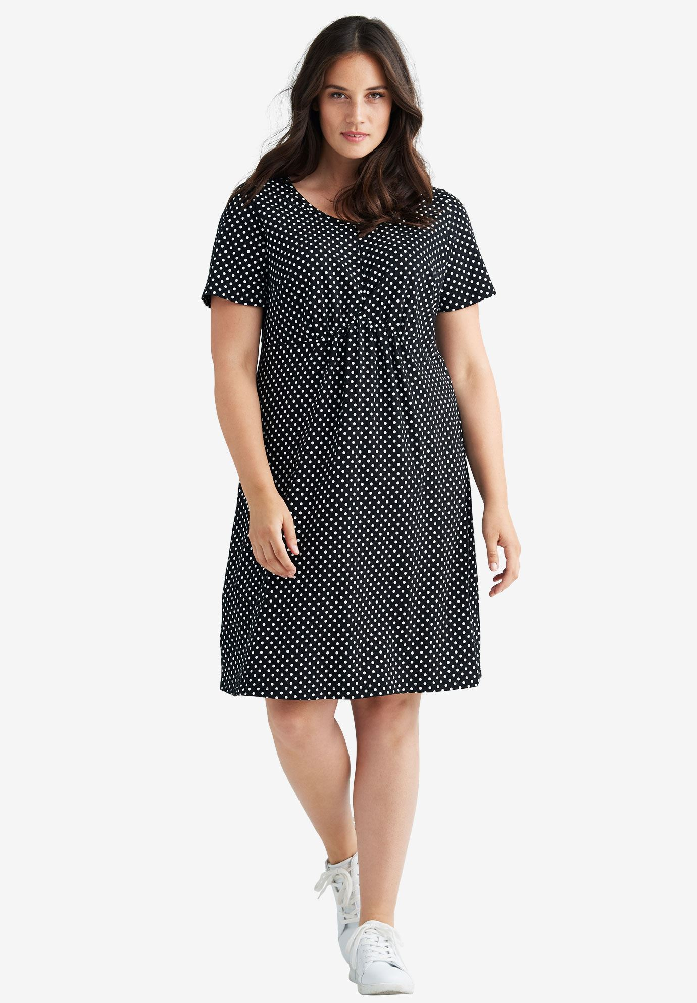 Polka Dot A-line Dress by ellos®,