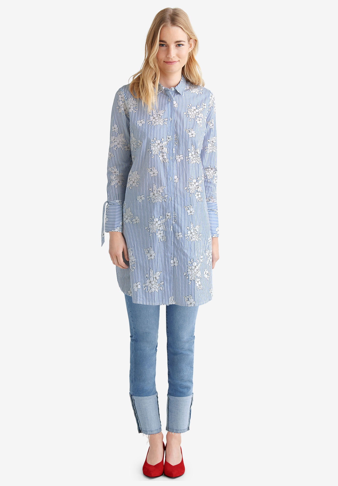 Tie-Sleeve Shirt Tunic by ellos®,