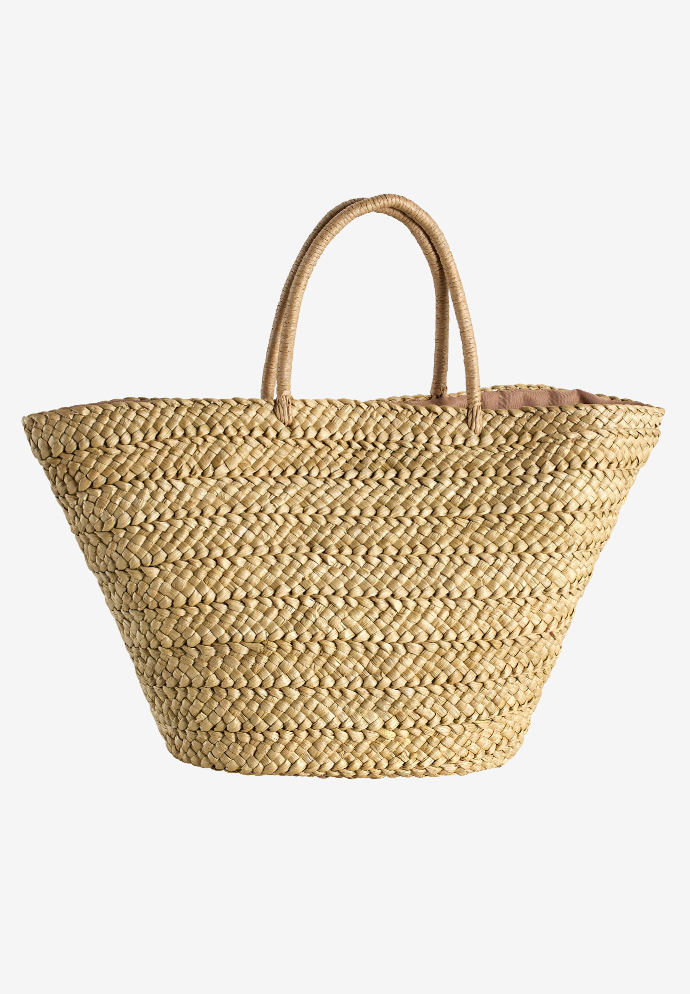 Straw Beach Bag by ellos®, NATURAL